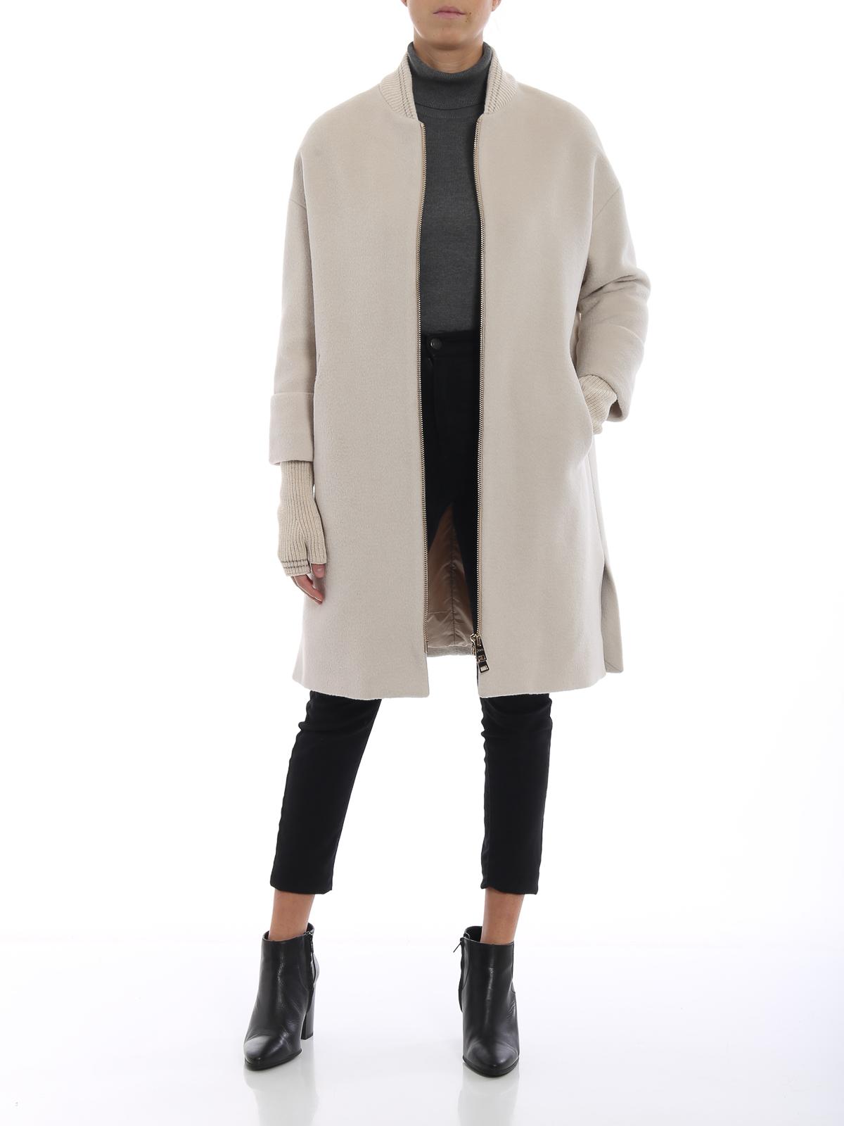 HERNO  cappotti al ginocchio online - Cappotto bianco in lana e angora 588df698780