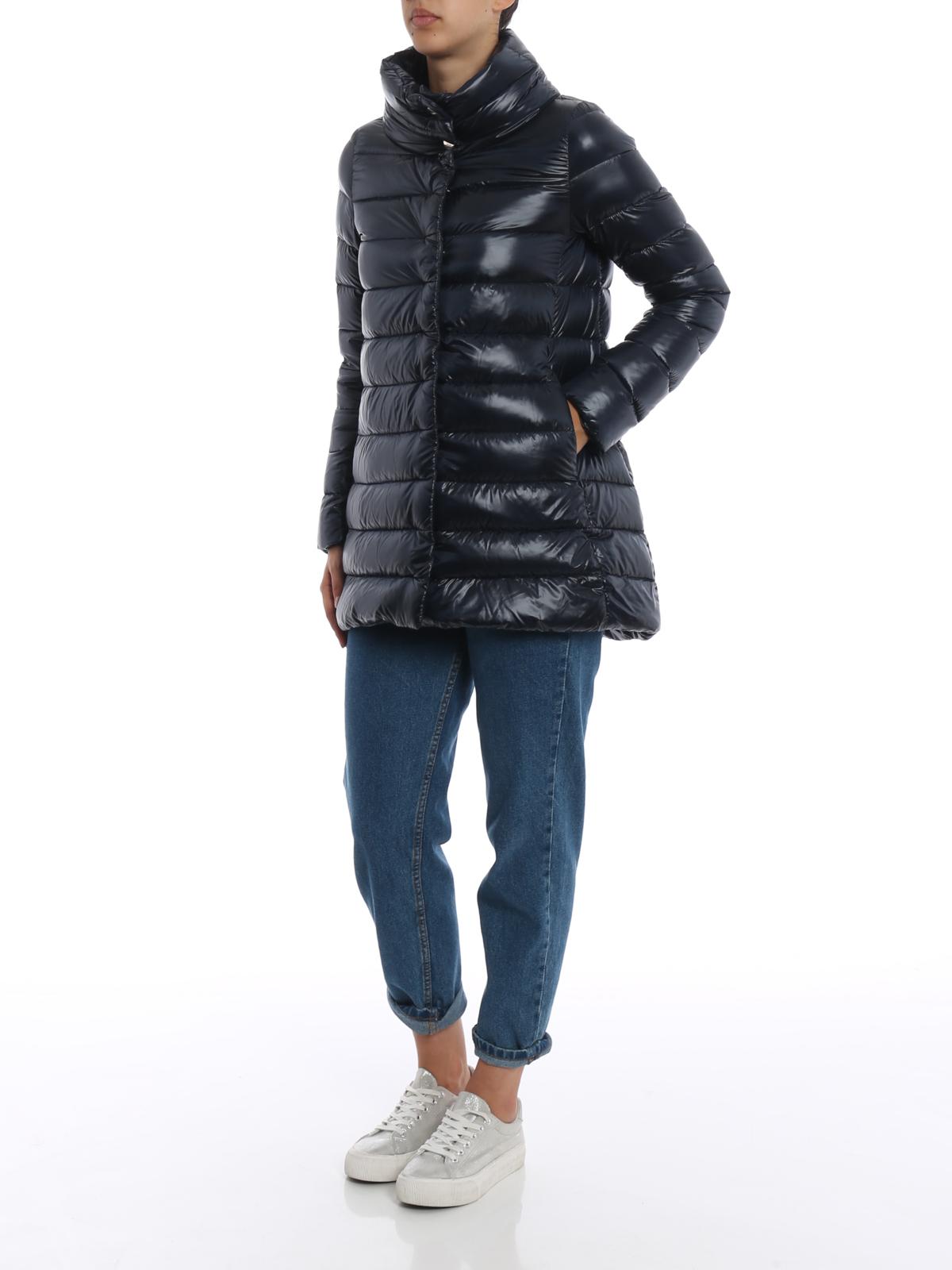 Herno Piumino Amelia ultraleggero blu cappotti imbottiti