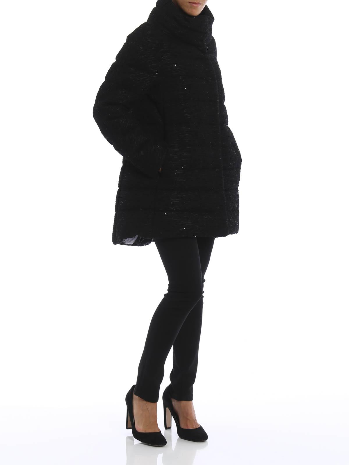 on sale 773a4 99d7d Herno - Piumino con paillettes - cappotti imbottiti ...