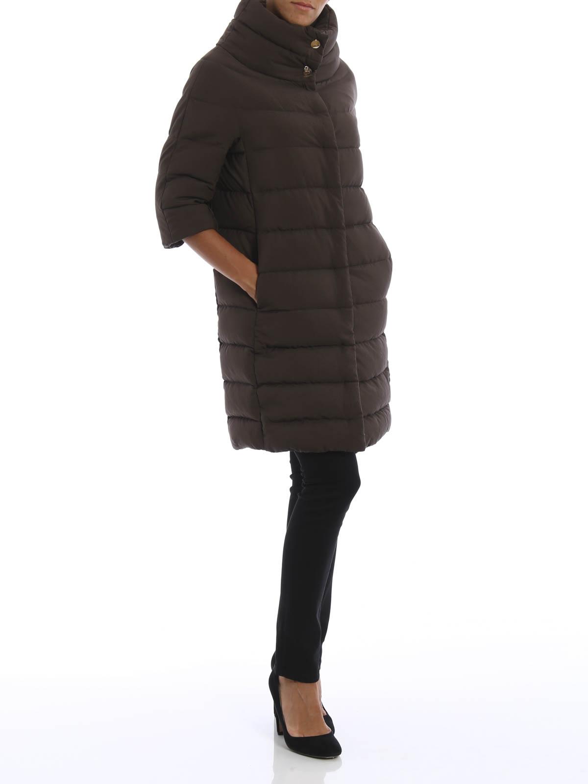 abeab5a723 Herno - Piumino con maniche in lana - cappotti imbottiti - PI0552D ...
