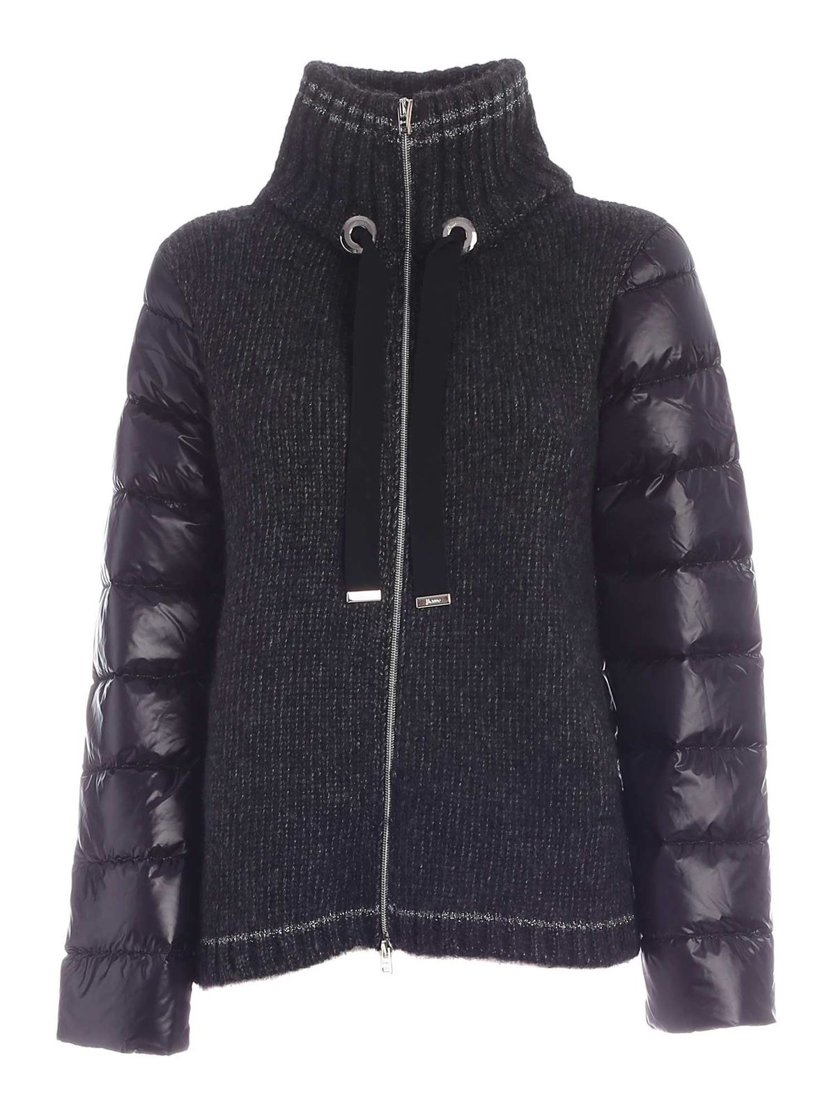 Herno ALPACA DETAILS DOWN JACKET IN BLACK
