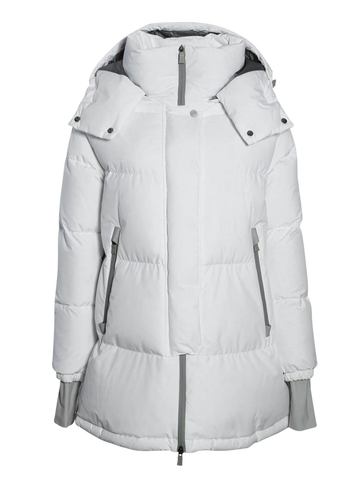 Herno DOWN JACKET WITH REMOVABLE HOOD IN WHITE