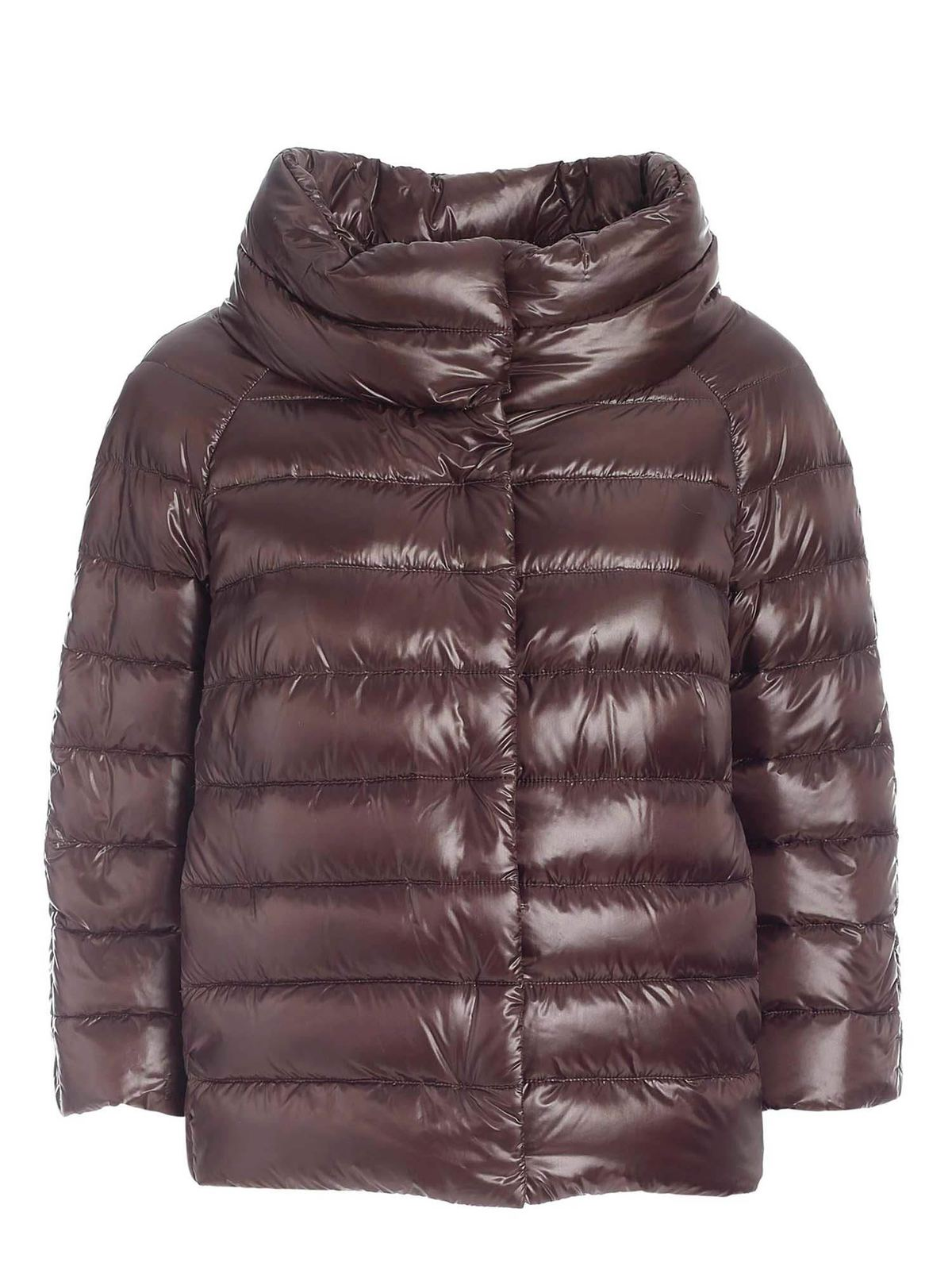 Herno ICONICO COLLECTION DOWN JACKET IN MUD COLOR