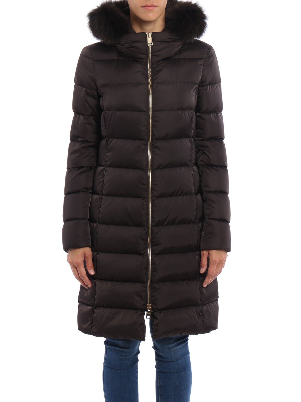 Online shopping from a great selection at Clothing Store. HARRYSTORE Women's Down Coat Jacket with Faux Fur Trim Hood Down Padded Long Winter Warm Parka Puffer Jacket Outwear.