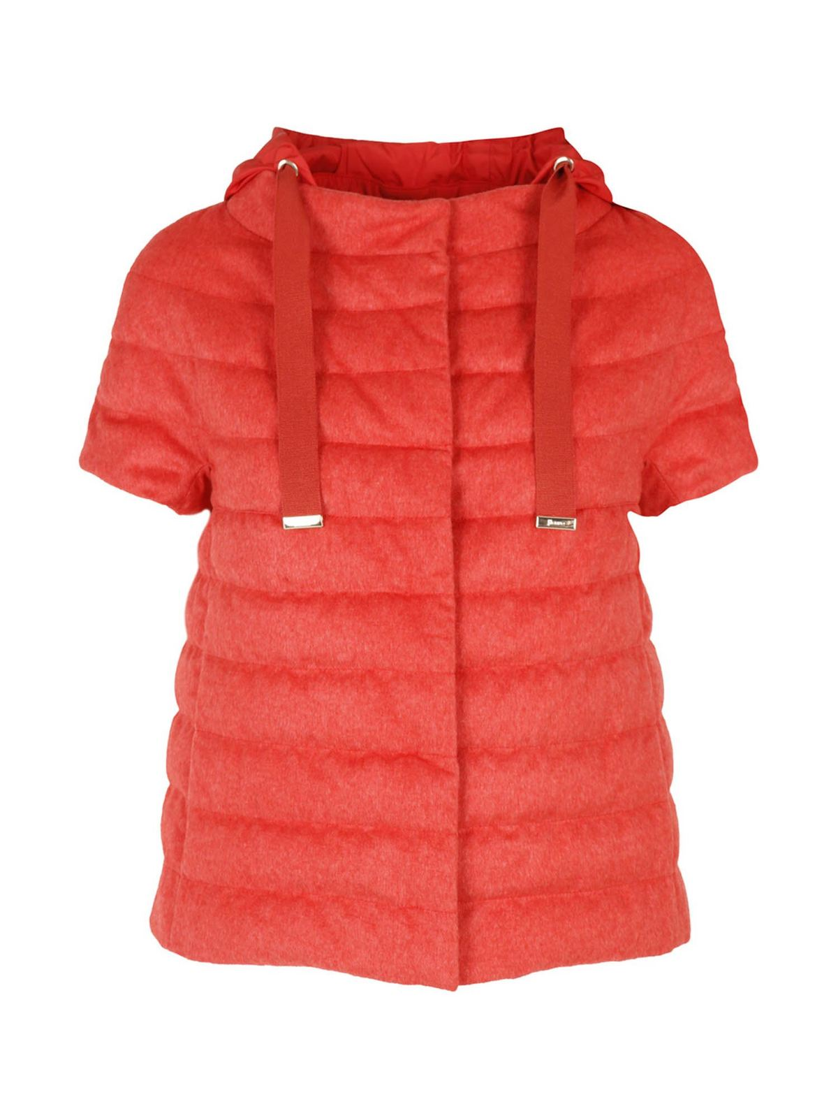 Herno Downs SHORT SLEEVE DOWN JACKET IN RED