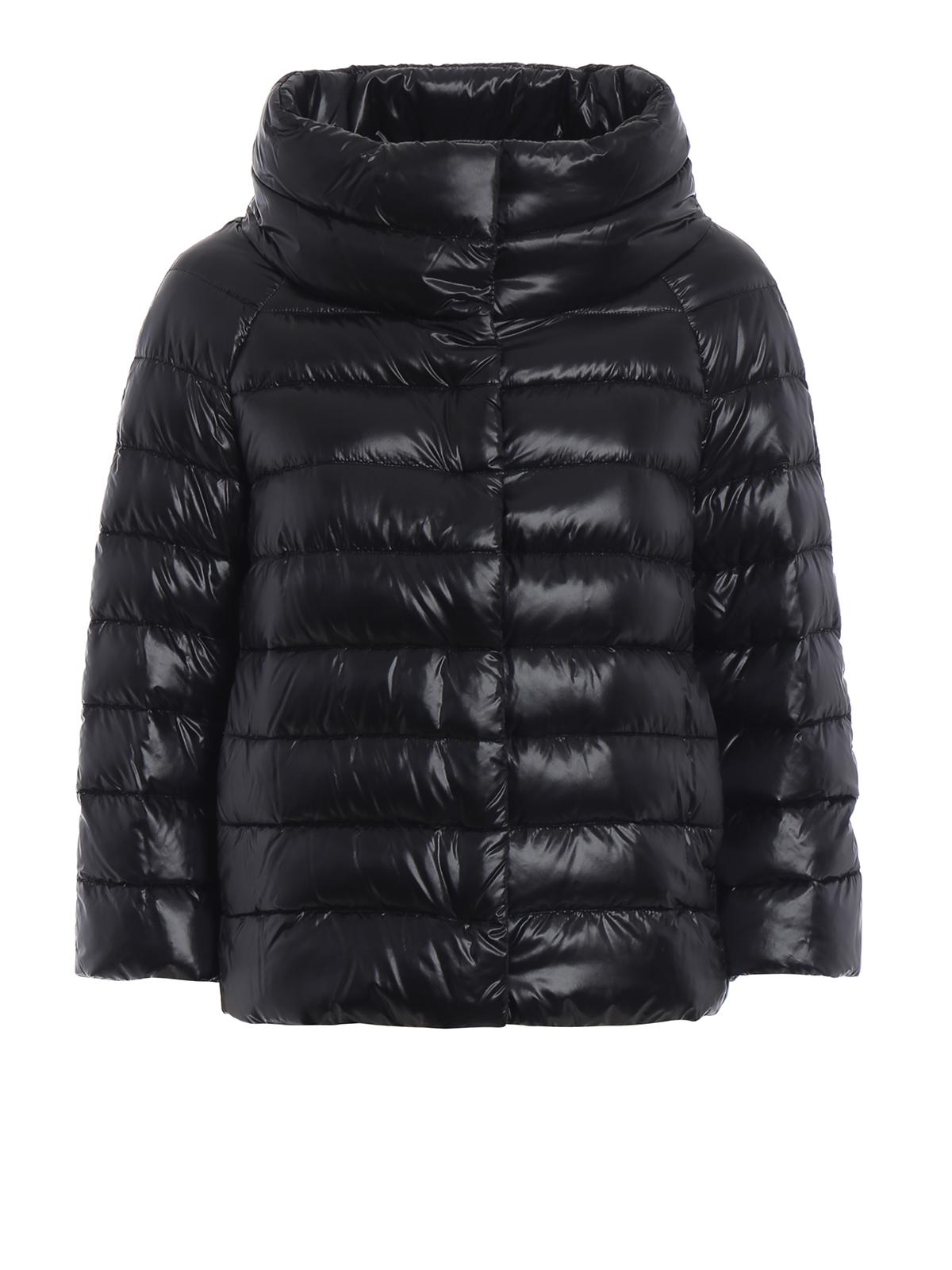 181d362b51 Herno - Piumino Sofia in nylon nero - giacche imbottite ...