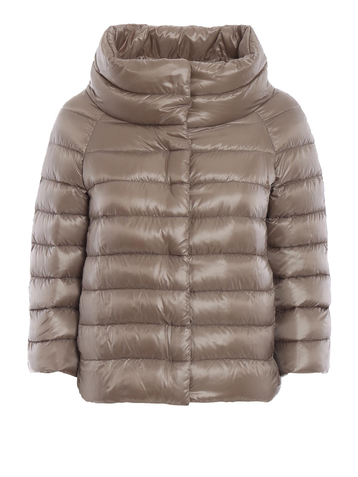 size 40 da66c eb125 Herno - Piumino Sofia in nylon grigio perla - giacche ...