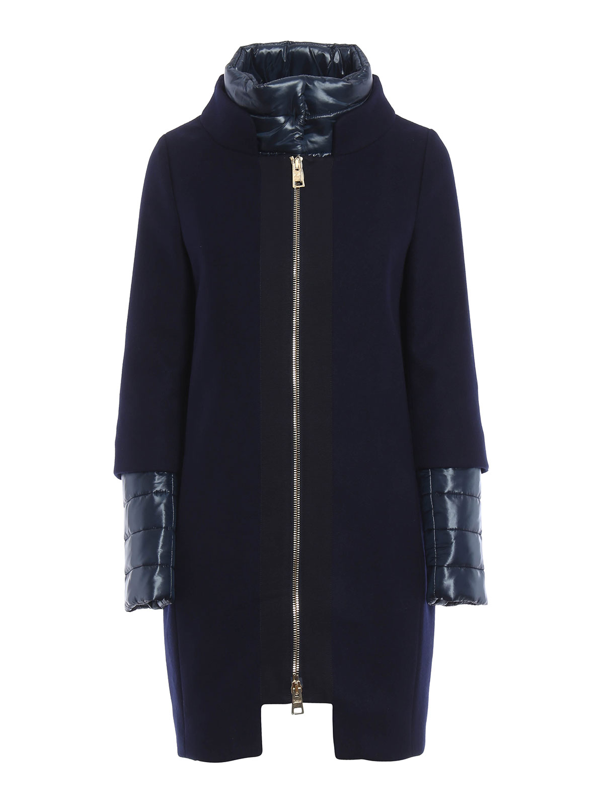 Herno Kurzer Mantel Fur Damen Blau Kurze Mäntel