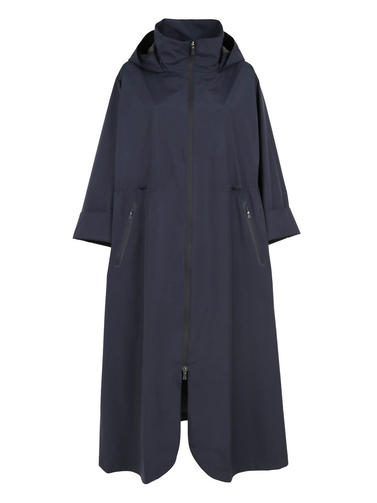 Herno Coats OVERSIZED RAINCOAT IN BLUE