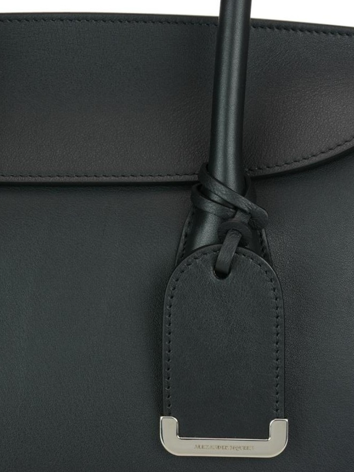 a7e9fa9d62260 Alexander Mcqueen - Heroine 30 black leather tote - totes bags ...