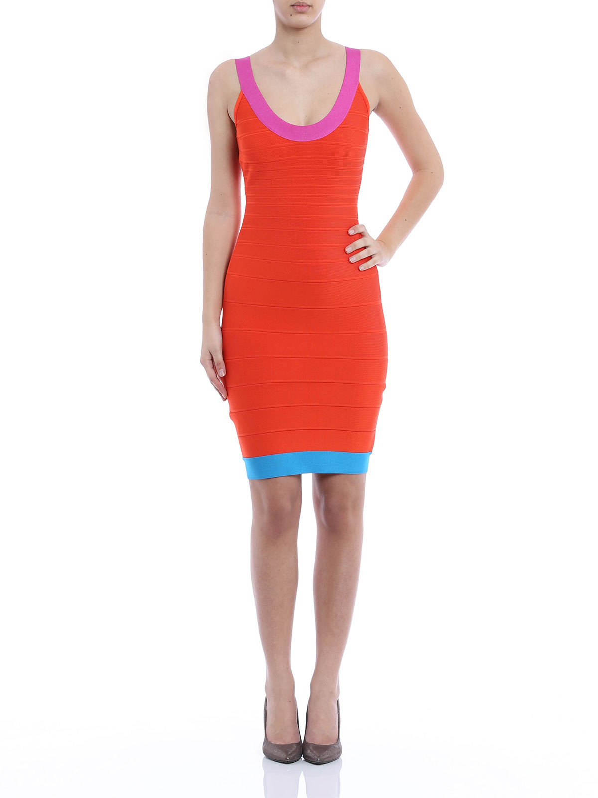 Cocktailkleid - Orange von Herve Leger - Cocktailkleider | iKRIX