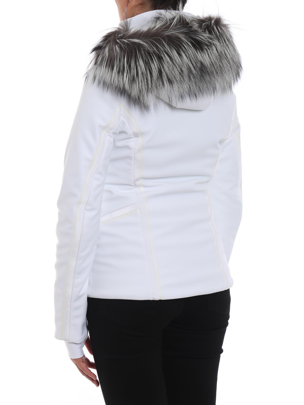 Fendi - Hi-tech ski jacket with fox fur inserts - padded jackets ... 15daec565