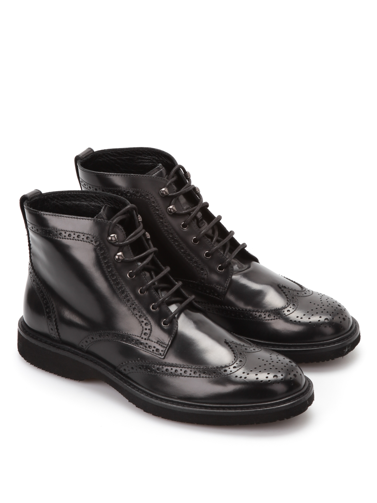 a9ca78542eeb5 Hogan - Lace-up brogue ankle boots - ankle boots - HXM2170S850 6Q6 B9999