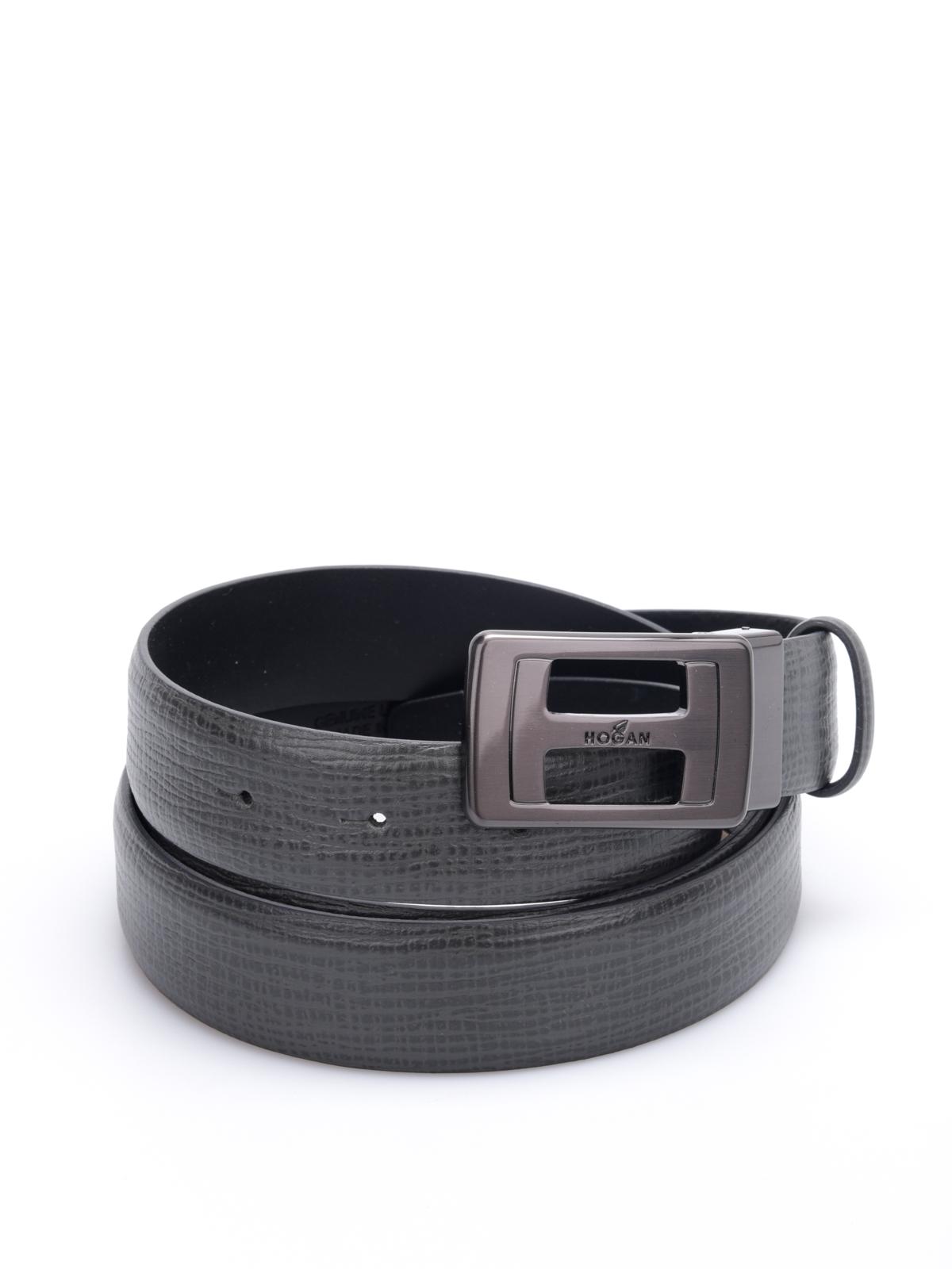 Cinture Hogan - Cintura In Pelle Fibbia Satinata - KFMC0150101A07B999