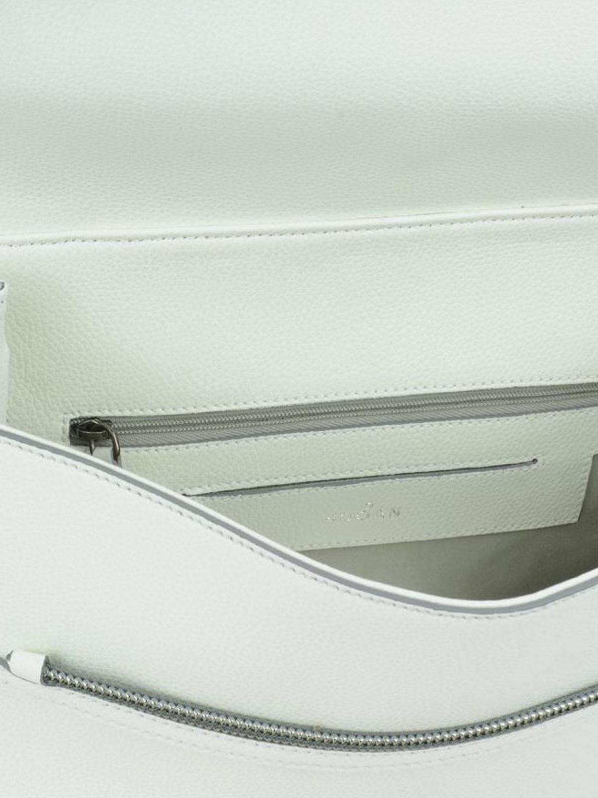 Hogan Clubbing grainy leather white bag s8WTL8iv