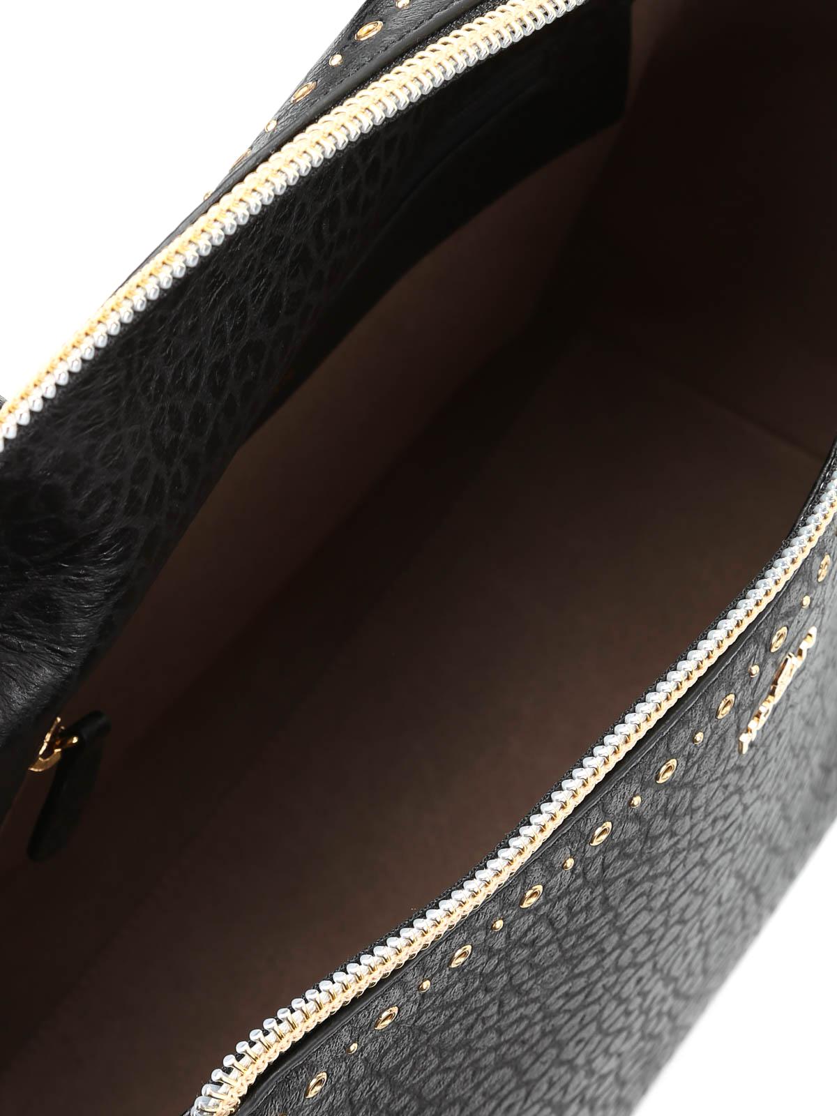 ca9a5ca161a4 Hogan - Grommet detailed leather handbag - bowling bags ...
