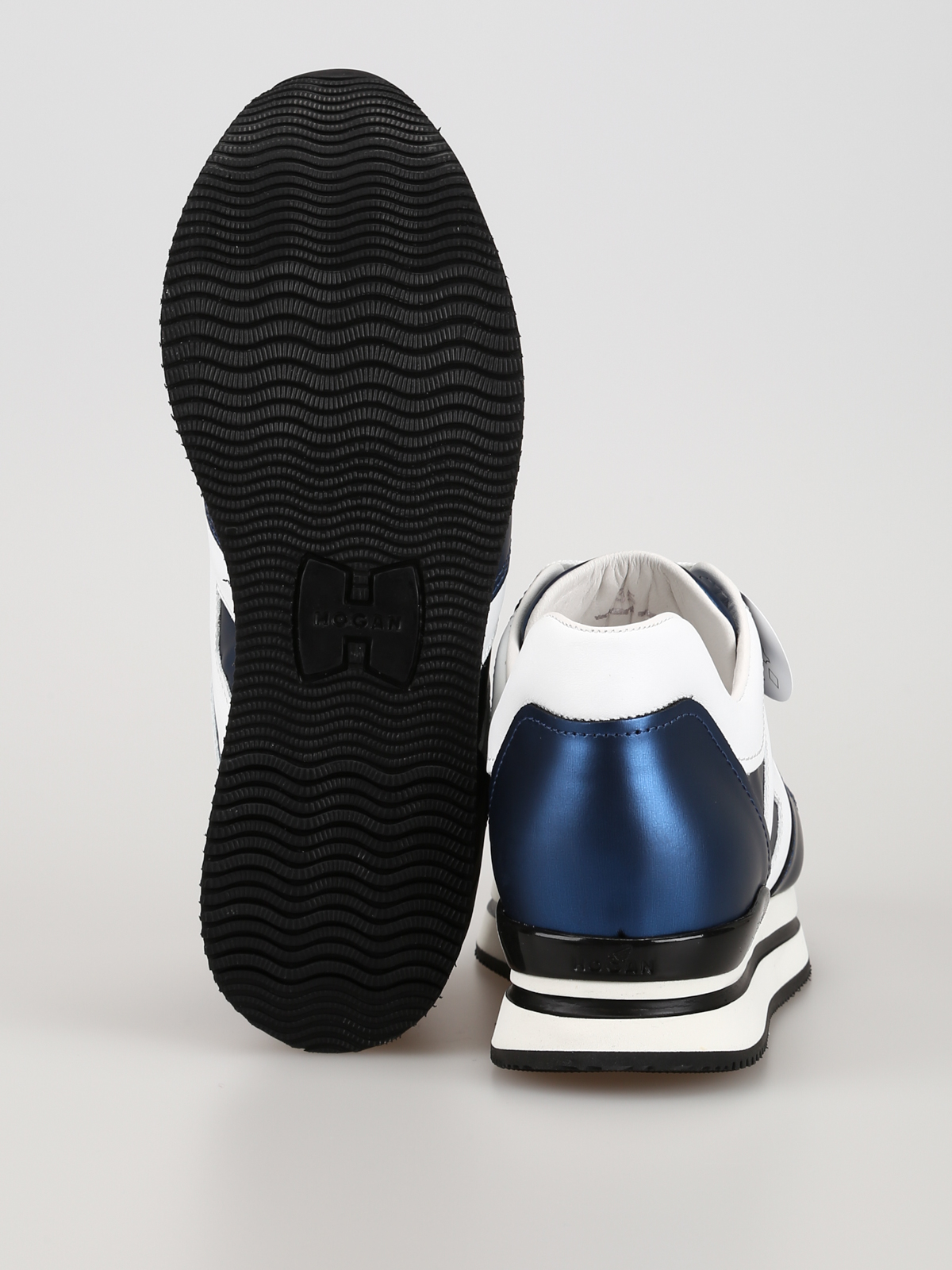 Trainers Hogan - H222 blue matte laminated sneakers ...
