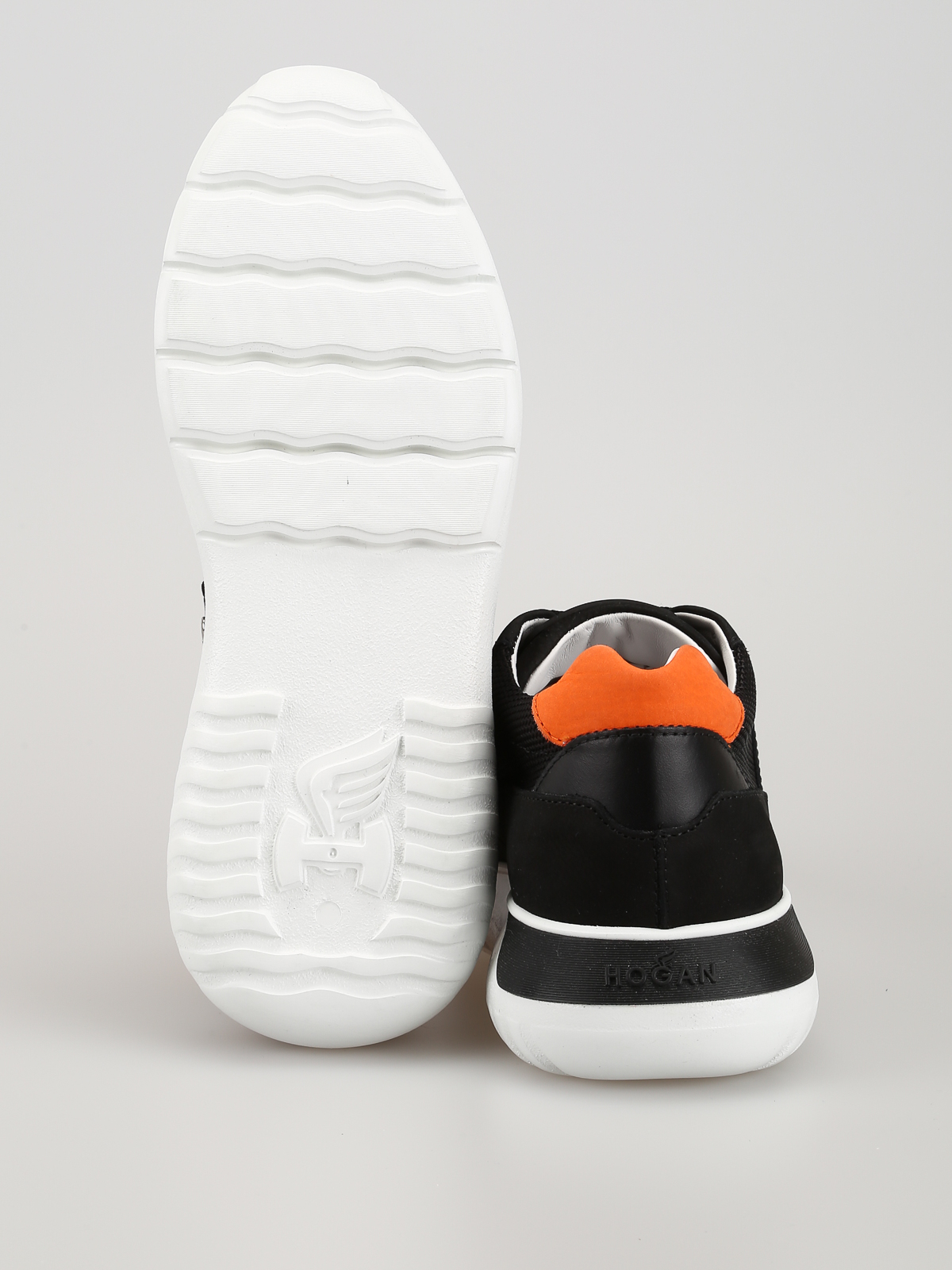 Sneakers Hogan - Sneaker Interactive³ nere e arancioni ...