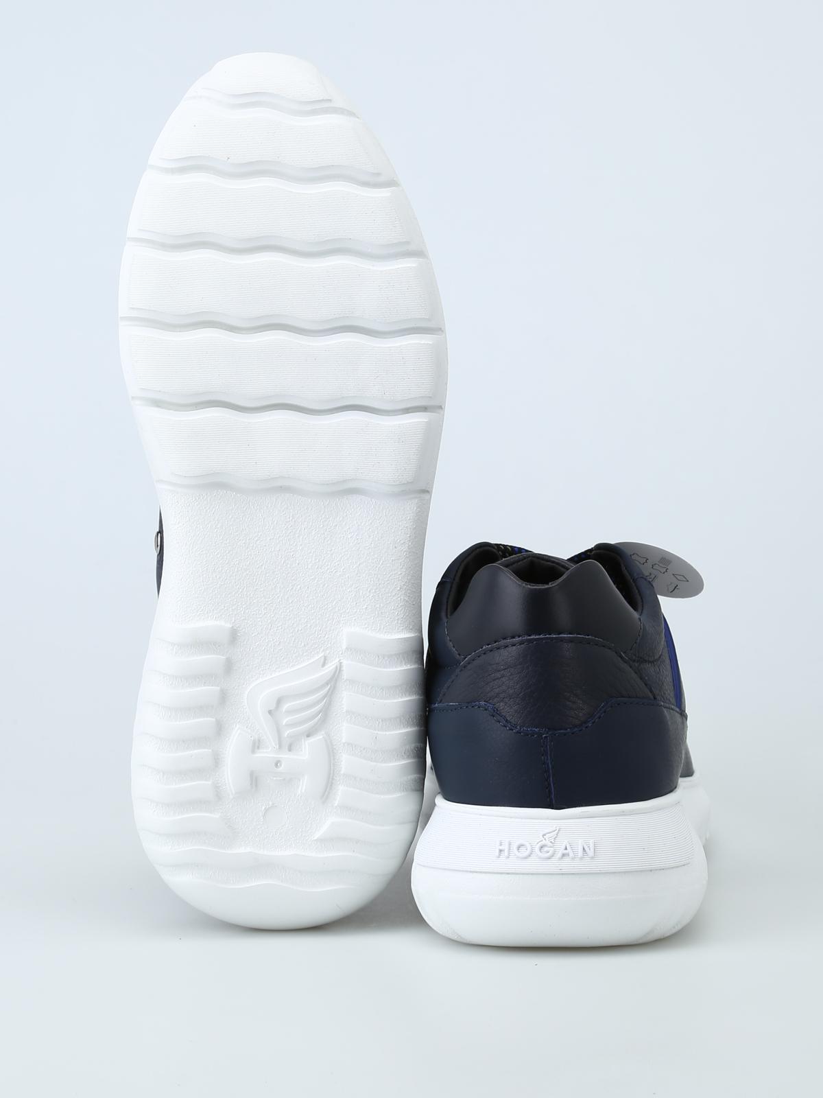 Hogan Sneaker Interactive³ in pelle blu scura sneakers