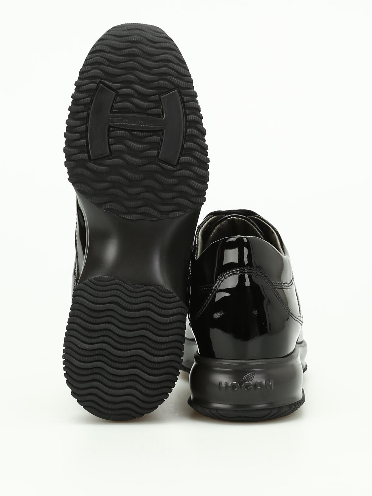 Hogan Sneaker Interactive in Vernice HXW00N00010OW0B999 Nero Donna ...