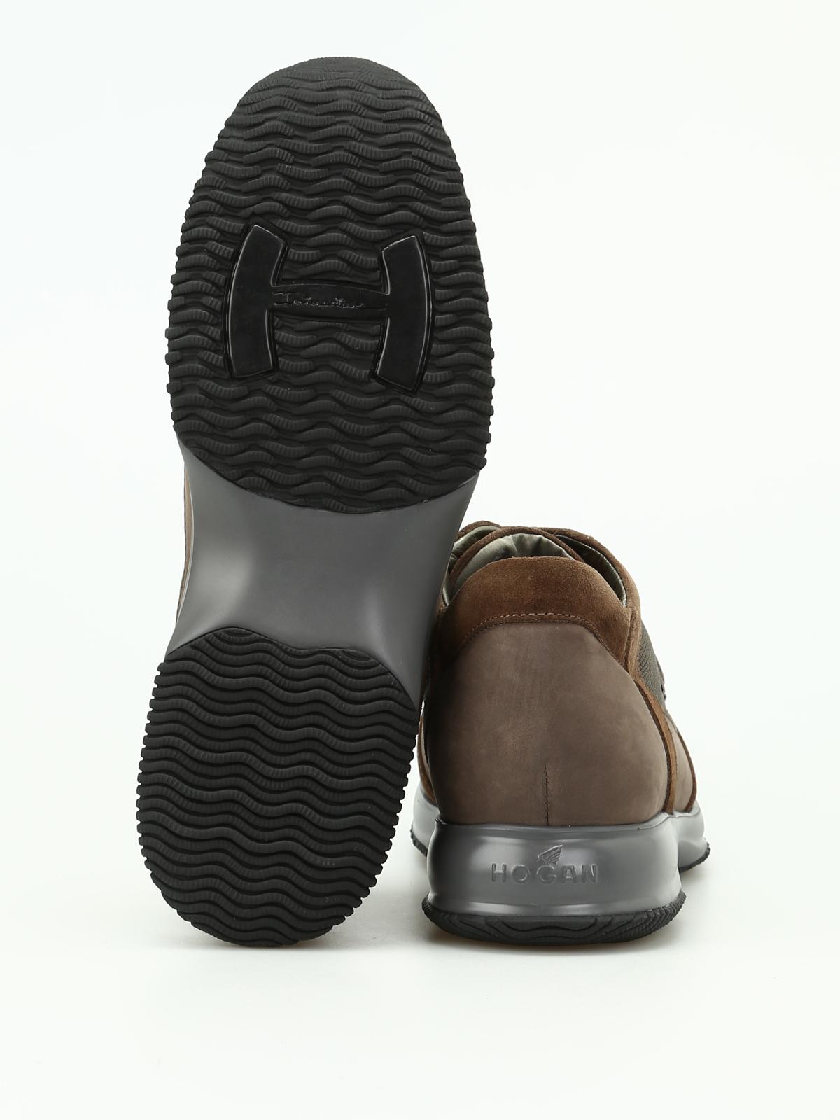 Hogan - Interactive in camoscio e tessuto - sneakers ...