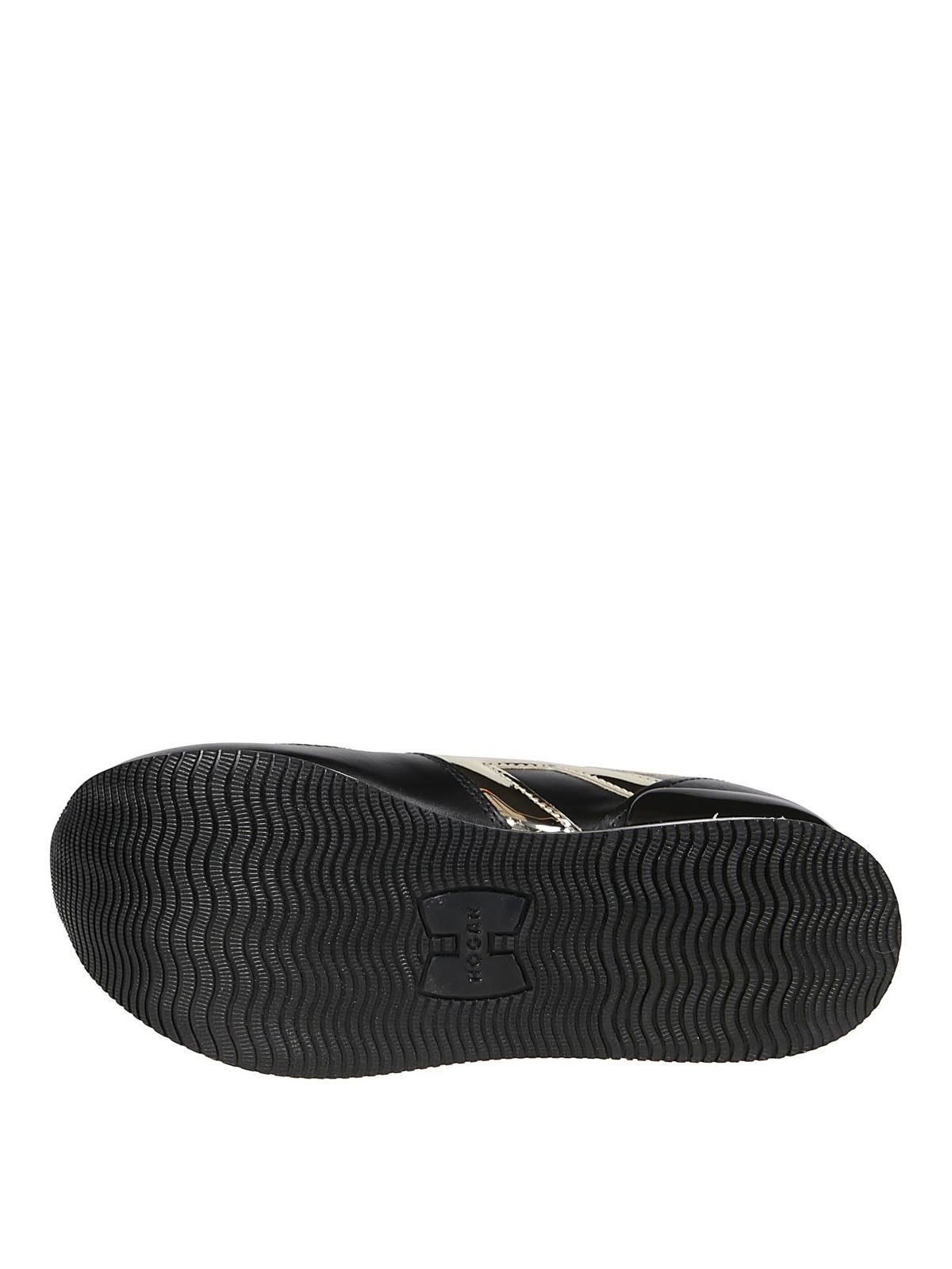 Sneakers Hogan - Sneaker nere e oro Maxi H222 - HXW2830T548LKQ547D