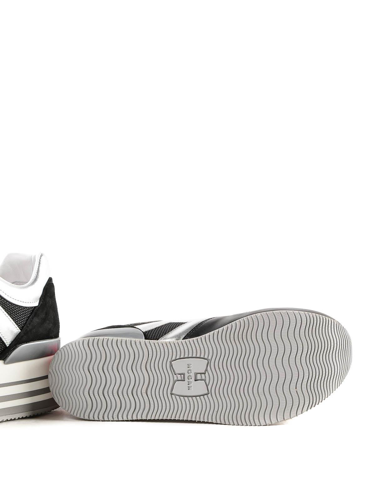 effdc101230 Hogan - Maxi H222 black striped platform sneakers - trainers ...