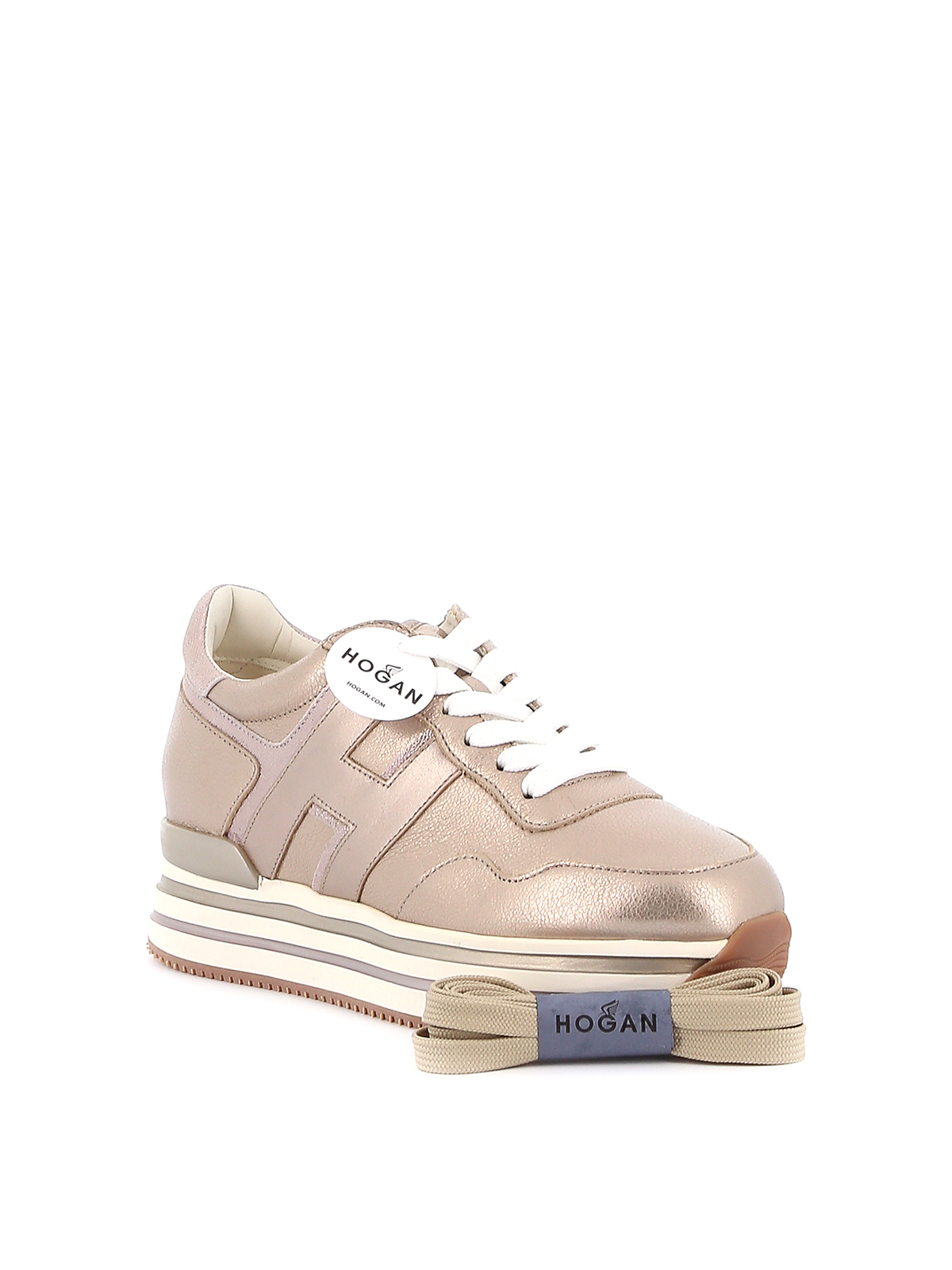 Trainers Hogan - Midi H222 laminated sneakers - HXW4830CB81N1VC210