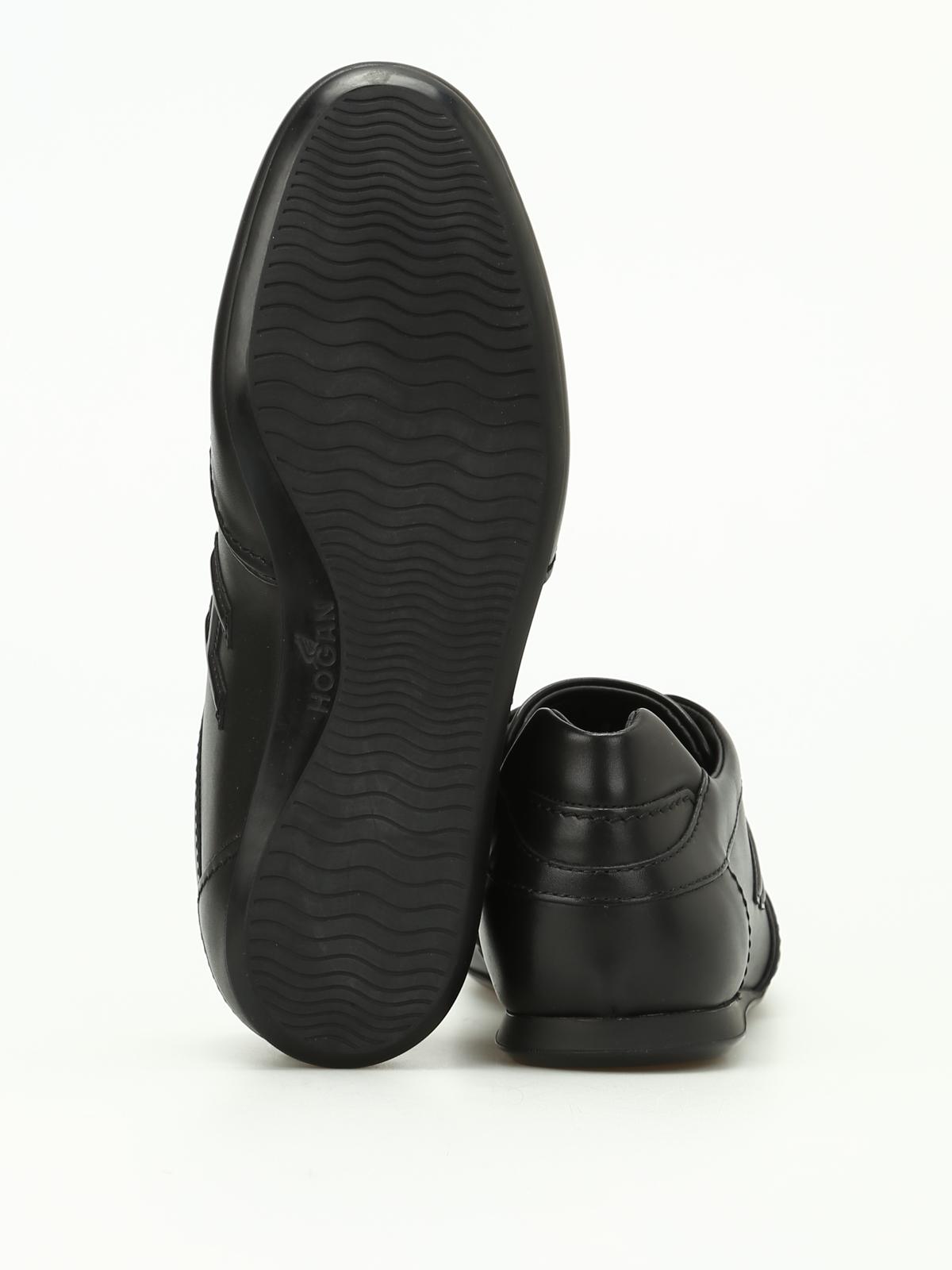 Sneakers Hogan - Olympia nere in pelle - HXM0570I9721POB999 ...