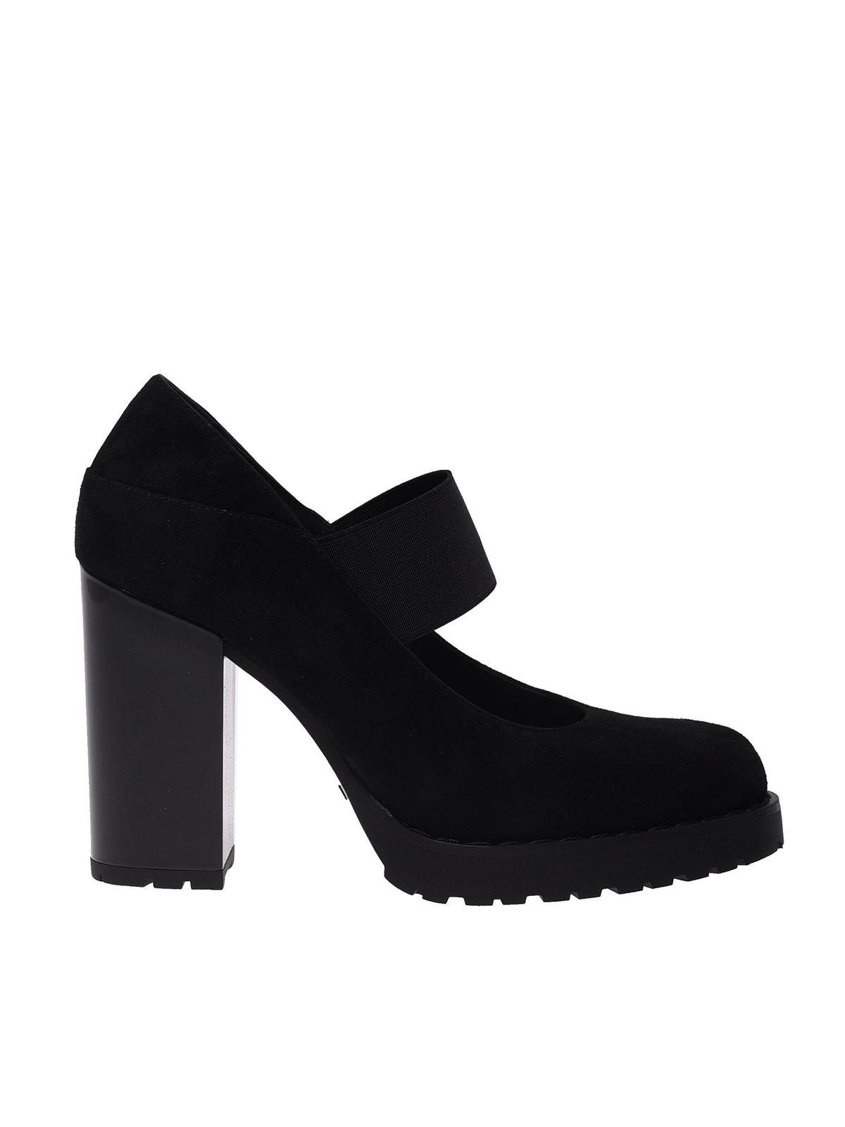 Court shoes Hogan - Elastic band pumps in black - HXW5420DG50CR0B999