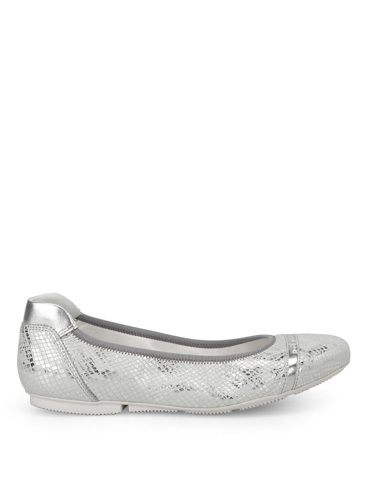 Silver Wrap 144 silver ballerinas Hogan RwZJp