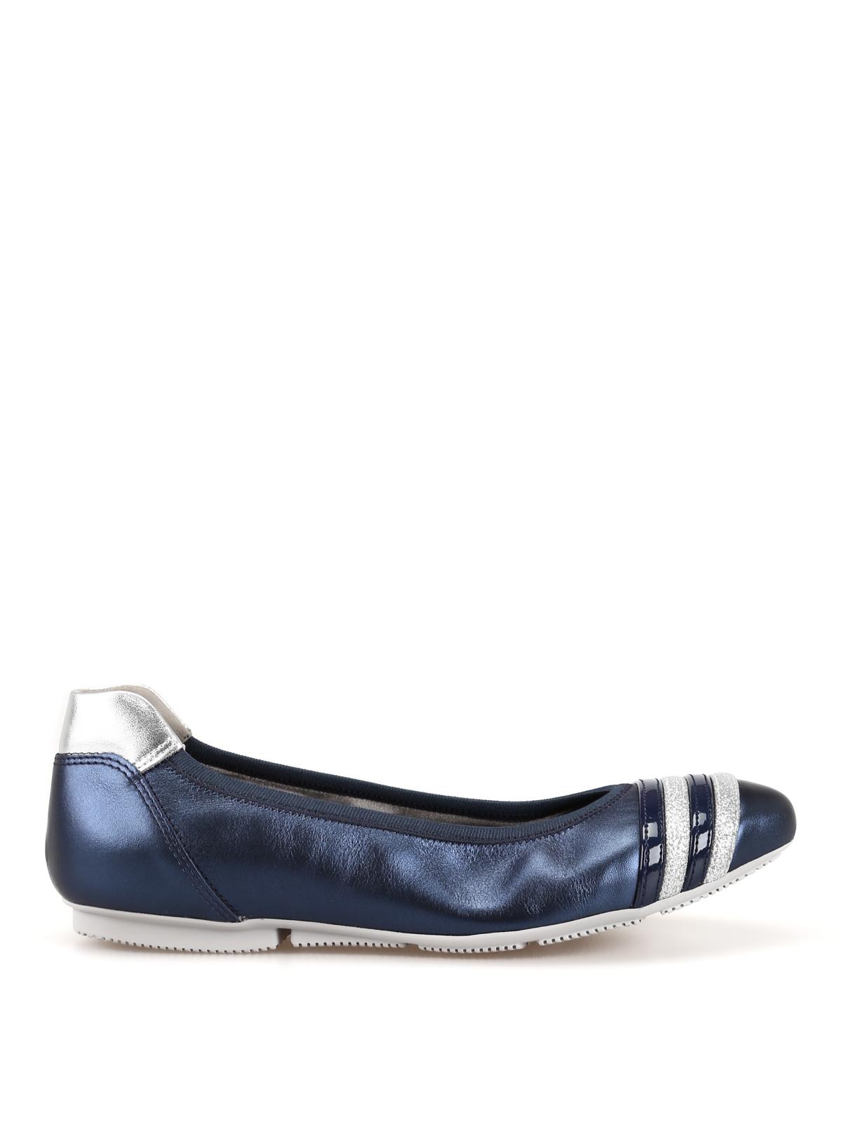 Ballerine Hogan - Ballerine Wrap-H144 in pelle blu ...