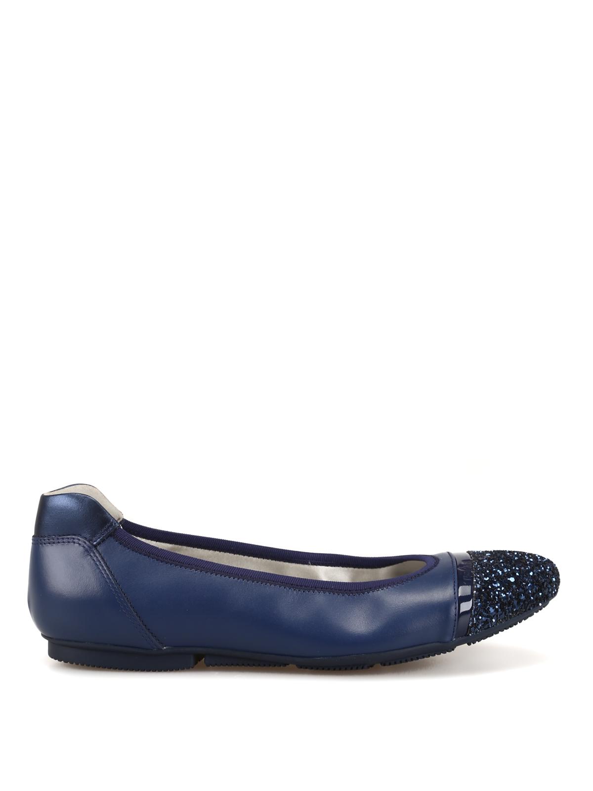 Hogan - Wrap H144 glittered toe ballerinas - flat shoes ...