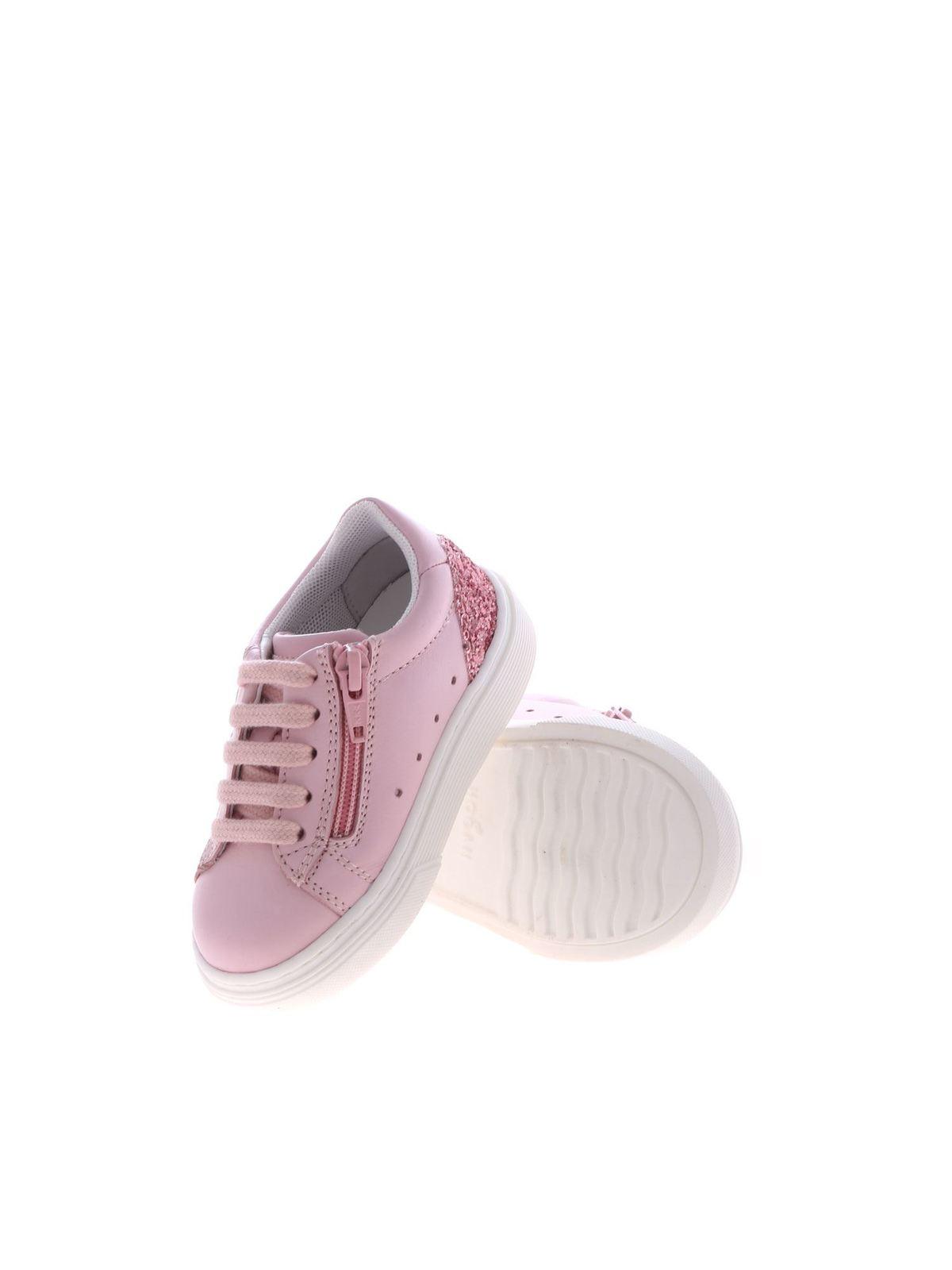 Sneakers Hogan Junior - Sneakers J340 rosa con glitter ...