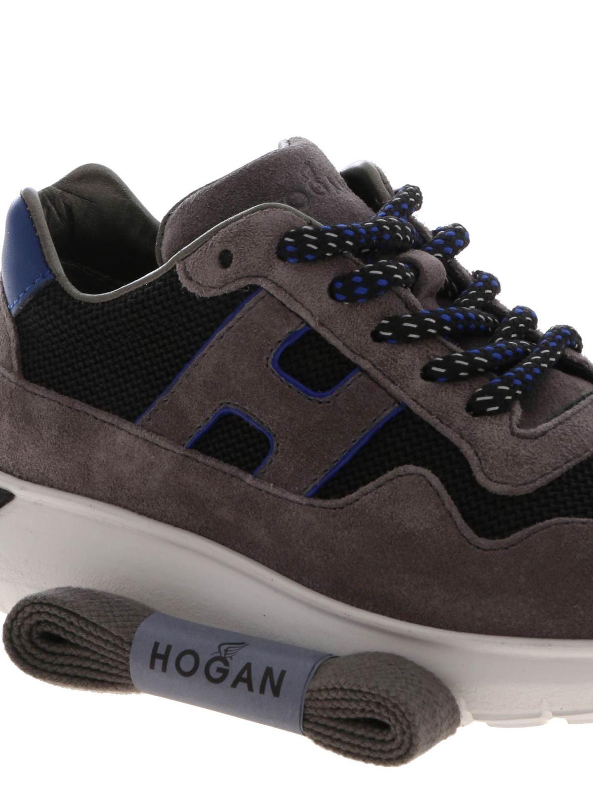 Hogan Junior - J371 sneakers in grey and black - trainers ...
