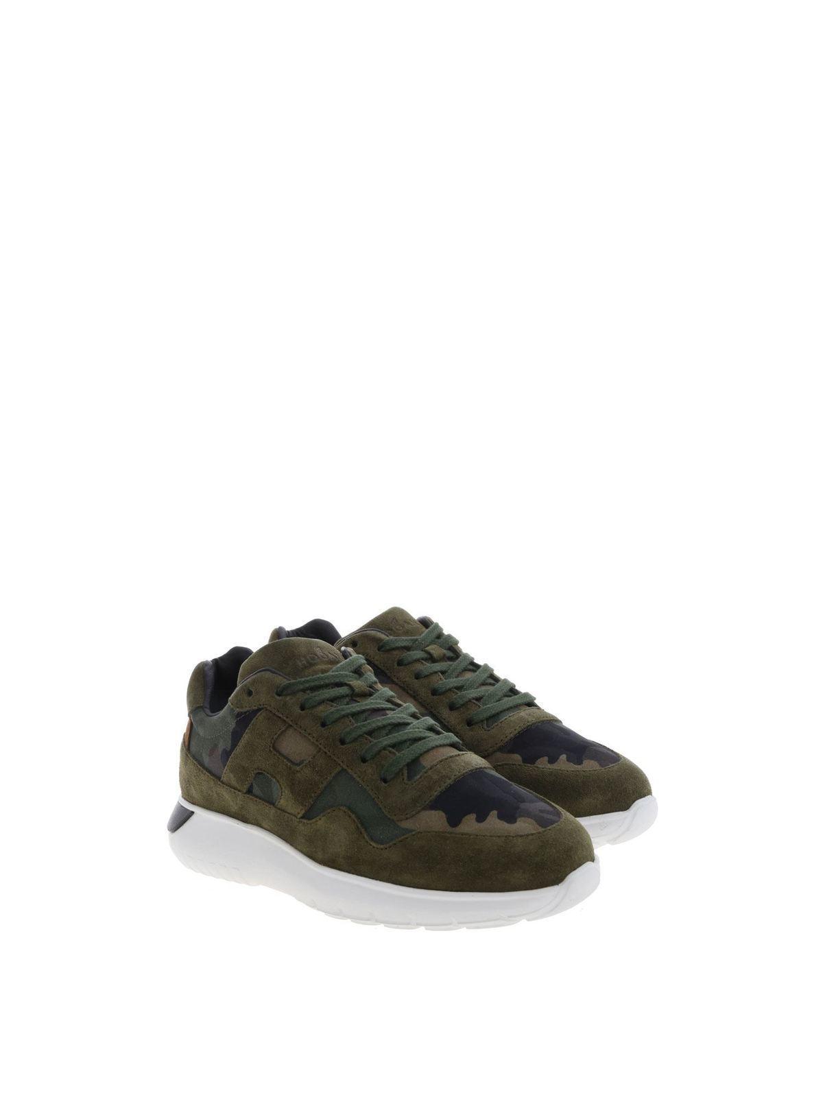 Trainers Hogan Junior - Green camouflage