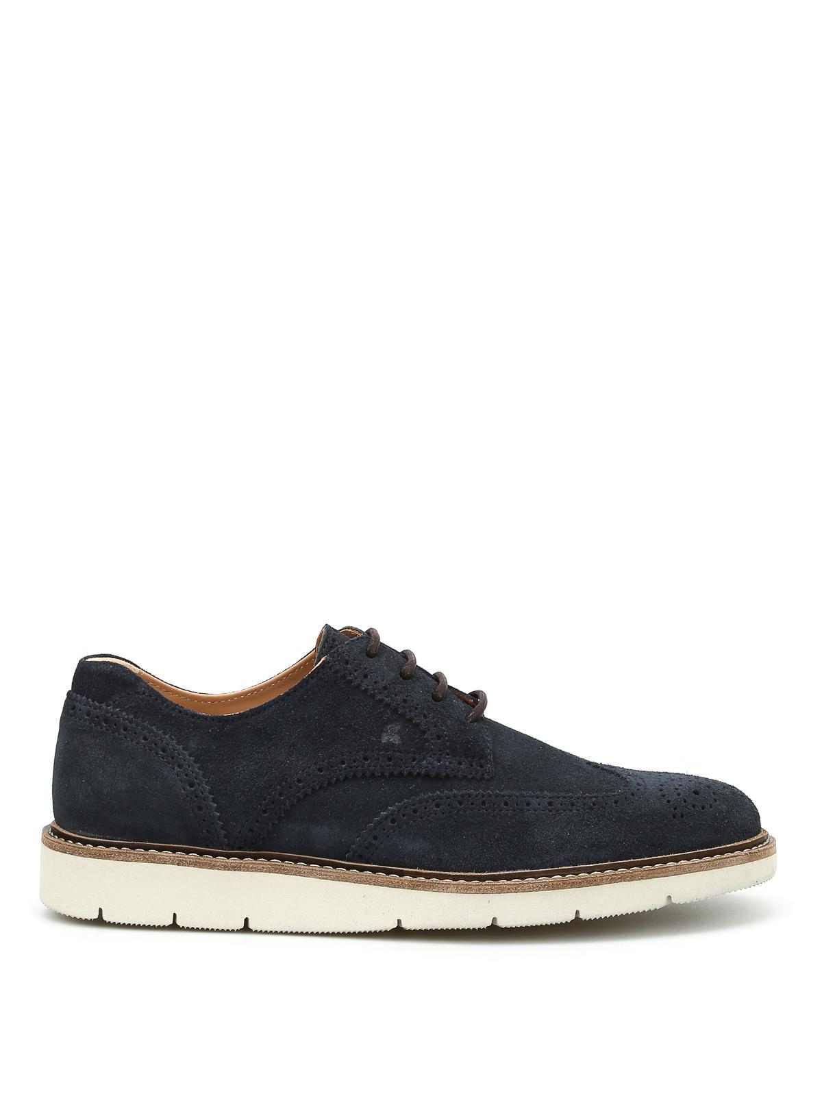 Hogan - Dress X H322 suede Derby - lace-ups shoes - HXM3220Y210B58U215