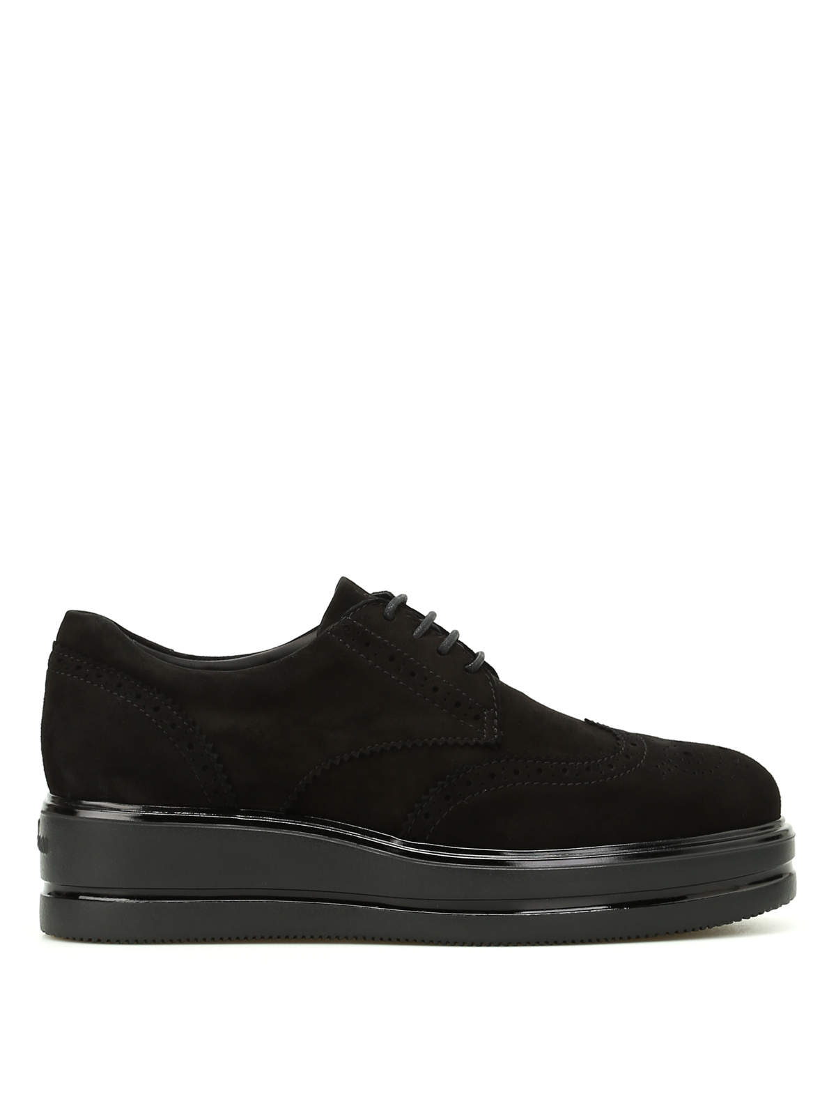 Lace-ups shoes Hogan - H323 suede Derby platform shoes ...