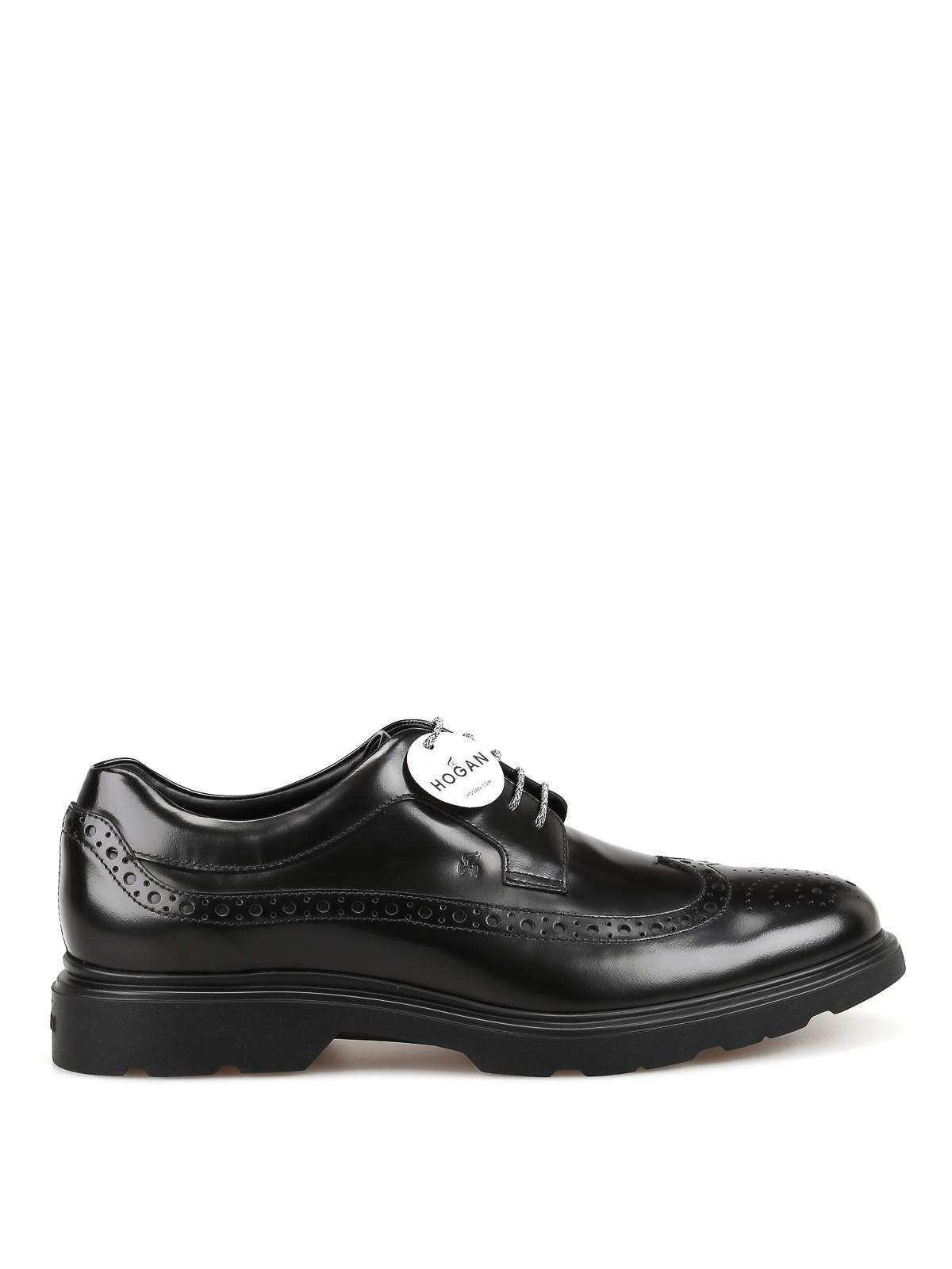 Lace-ups shoes Hogan - H393 new Derby black shoes - HXM3930BX606Q6B999