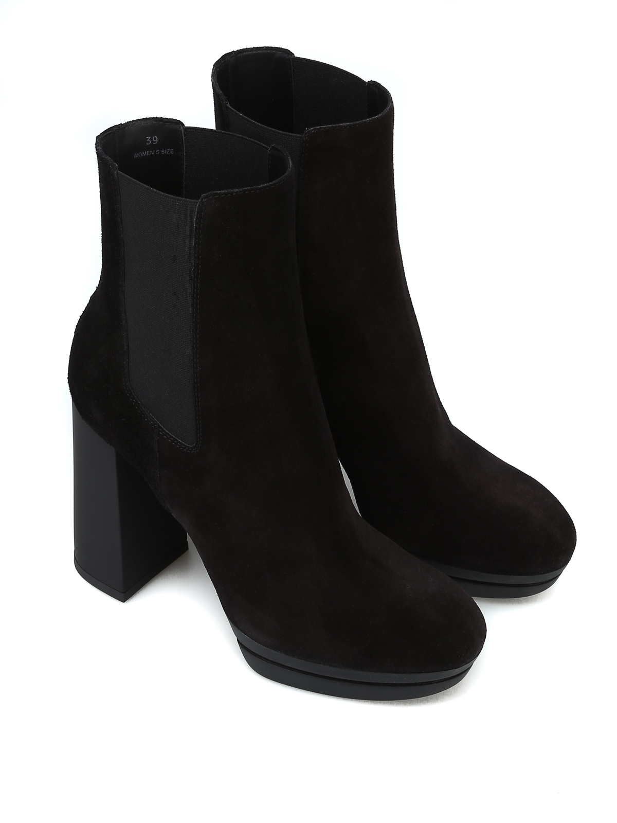 cc10da4041e Hogan - H391 black suede ankle boots - ankle boots - HXW3910AS00BYEB999