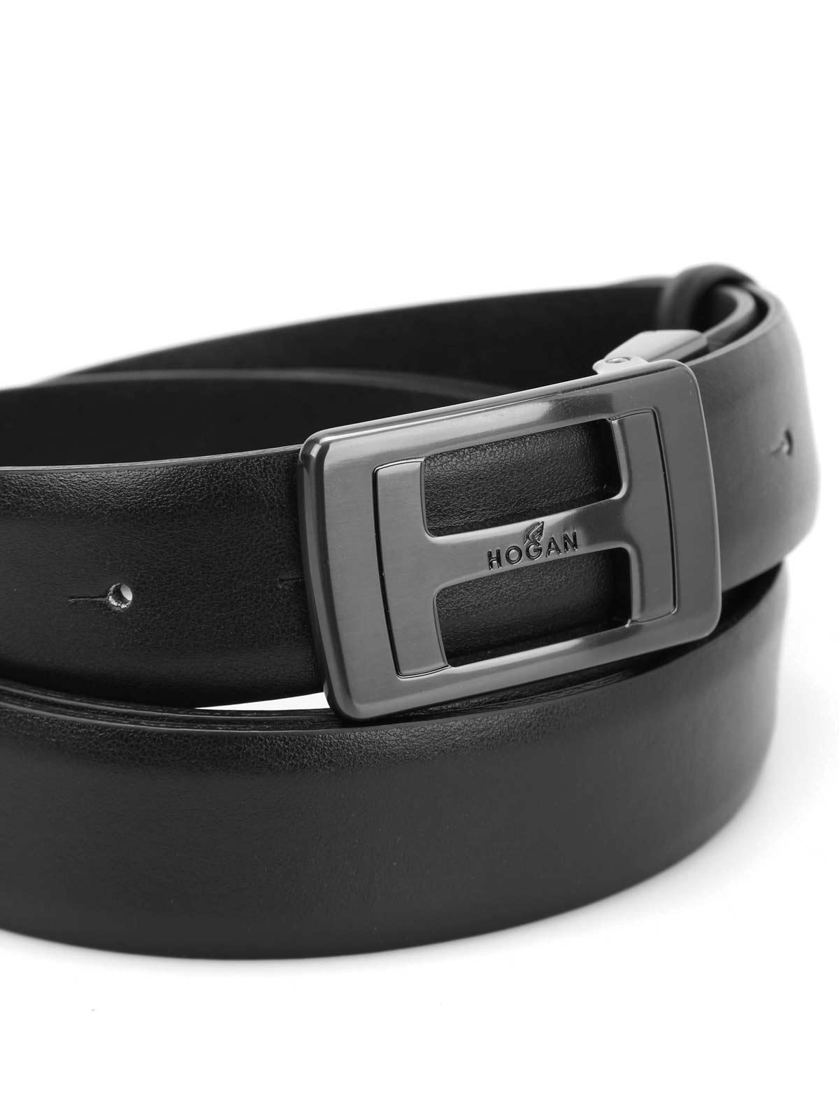 design di qualità e9e6a 80786 Hogan - Cintura Nuova H - cinture - KFMC0150102DURB999 ...