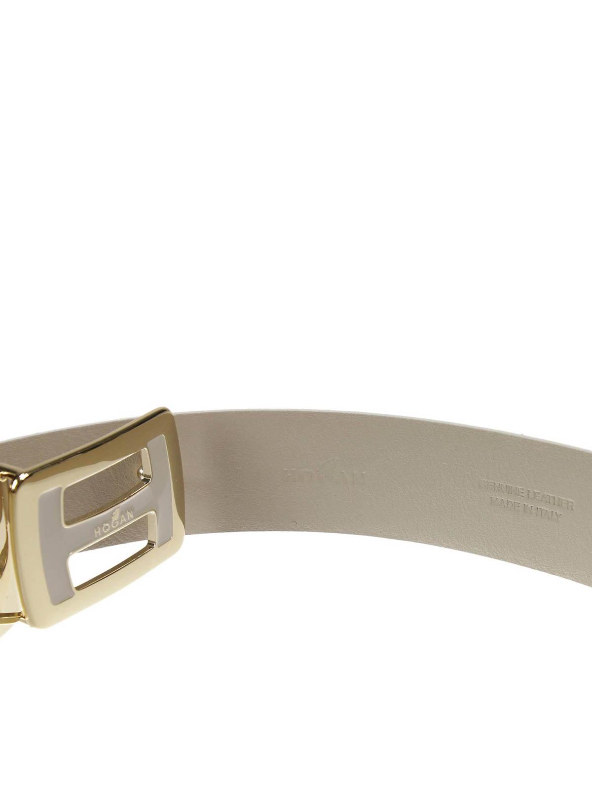 Cintura scamosciata con logo