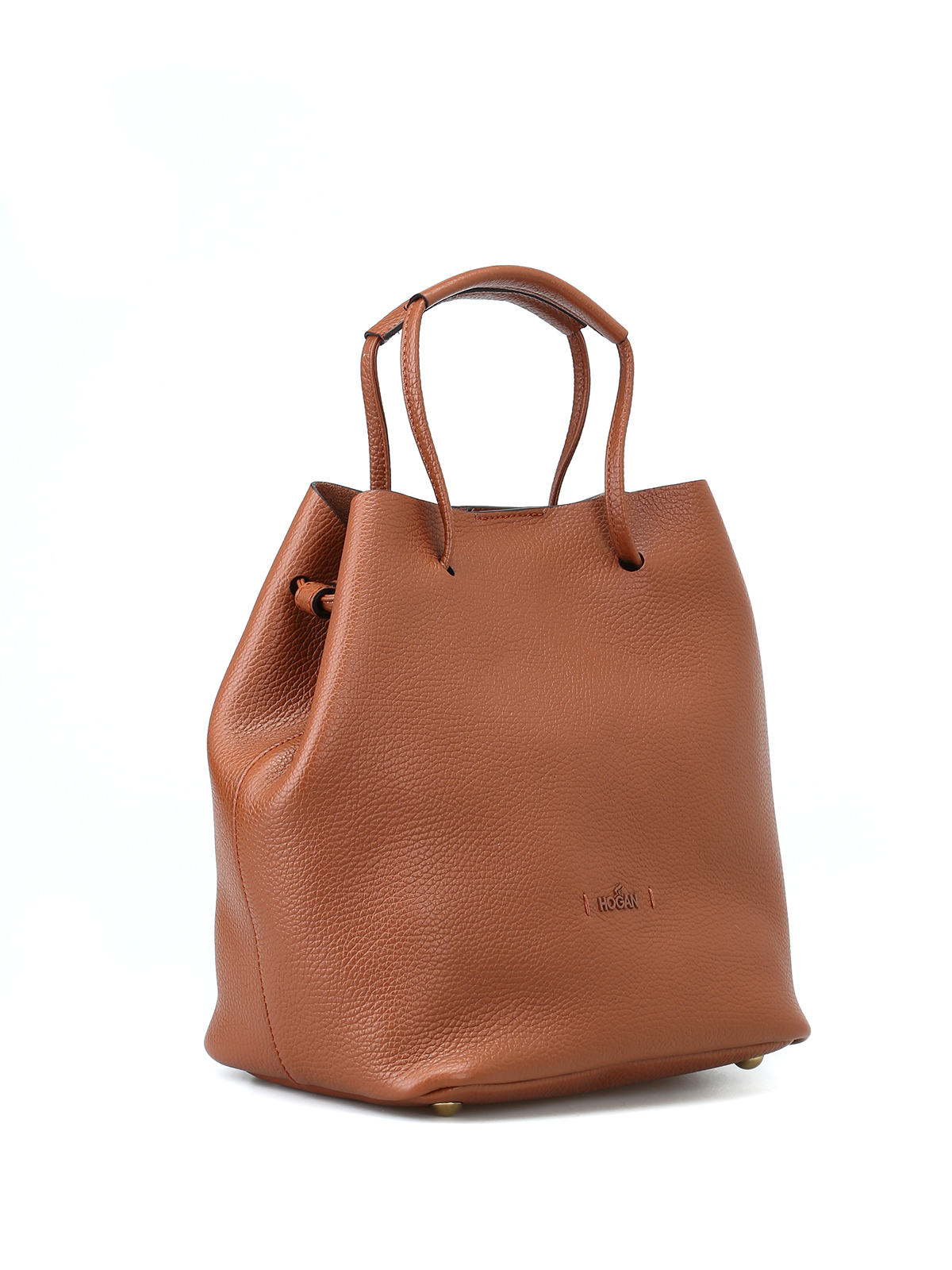HOGAN  Bucket bags online - Brown soft hammered leather bucket bag 7fc4a99f97f
