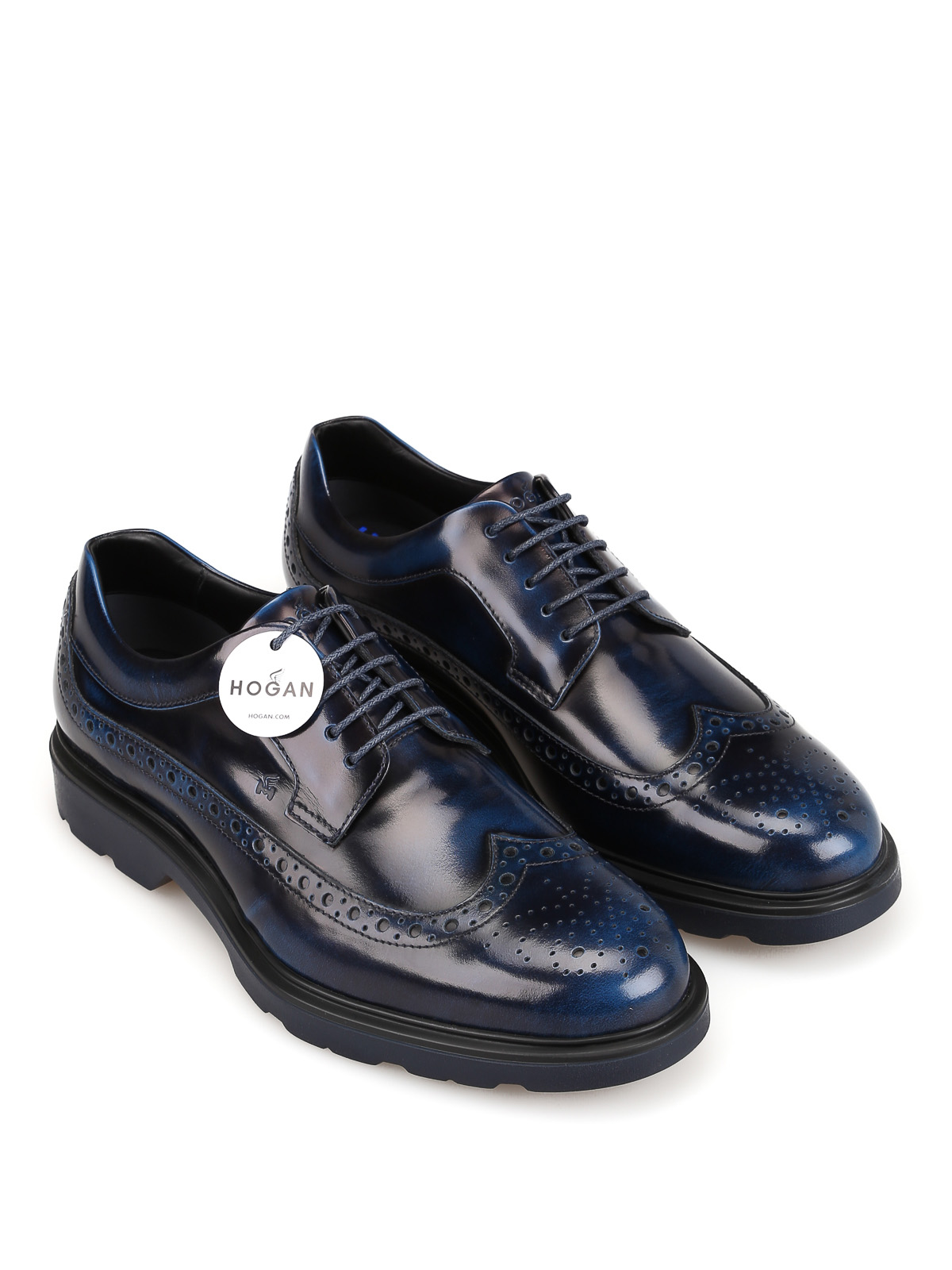 Hogan - Route H393 shaded blue Derby shoes - lace-ups shoes ...