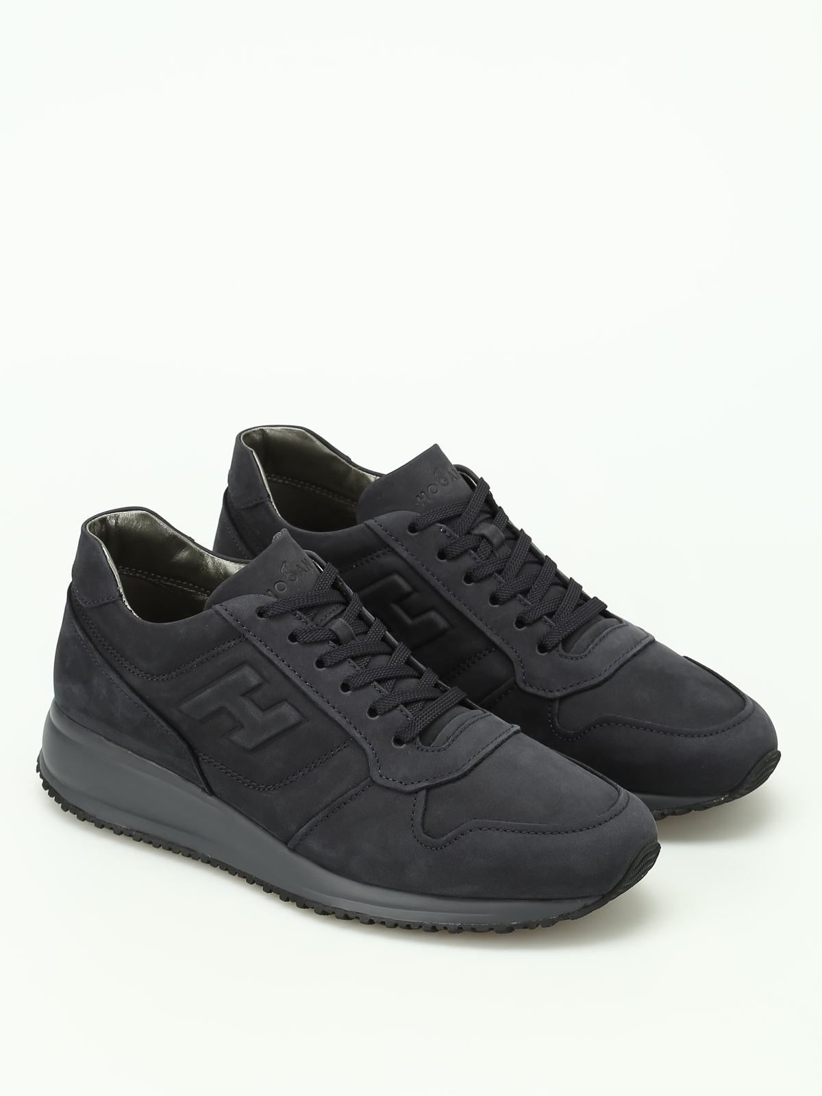 HOGAN  sneakers online - Sneaker Interactive N20 nabuk blu af37ba54931