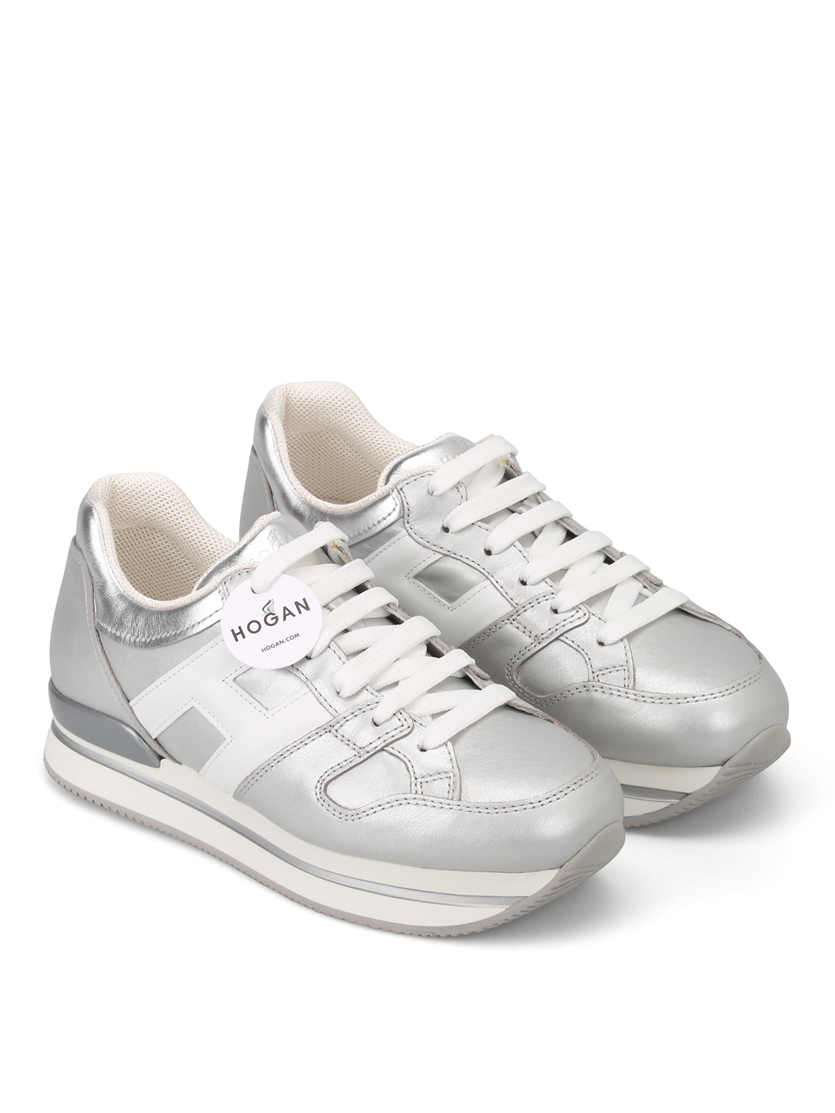 95c6eafd16 Hogan - Sneaker H222 argento e bianche - sneakers - HXW2220T548I8G0906