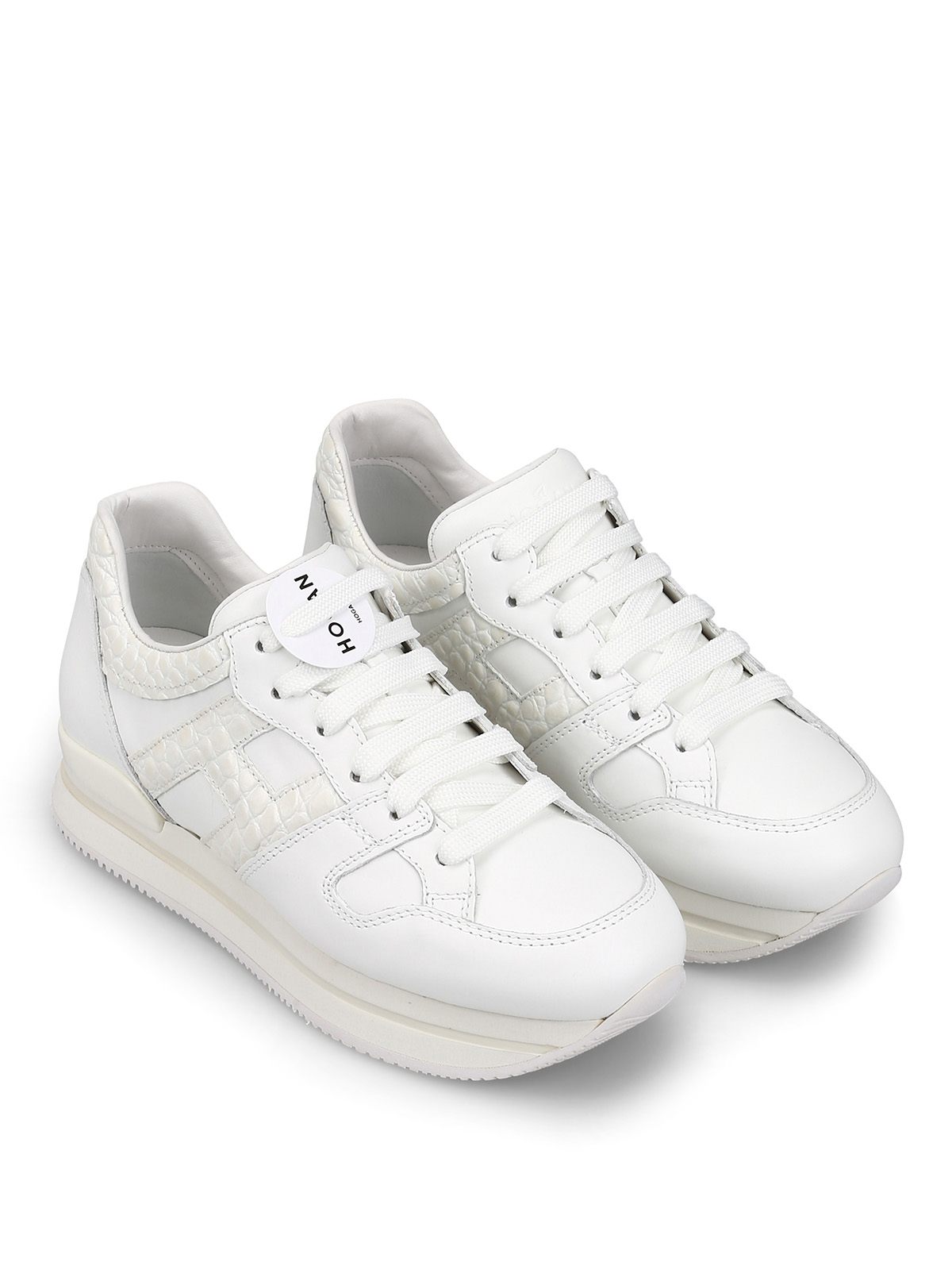 Trainers Hogan - H222 white leather sneakers - HXW2220T548KGKB001