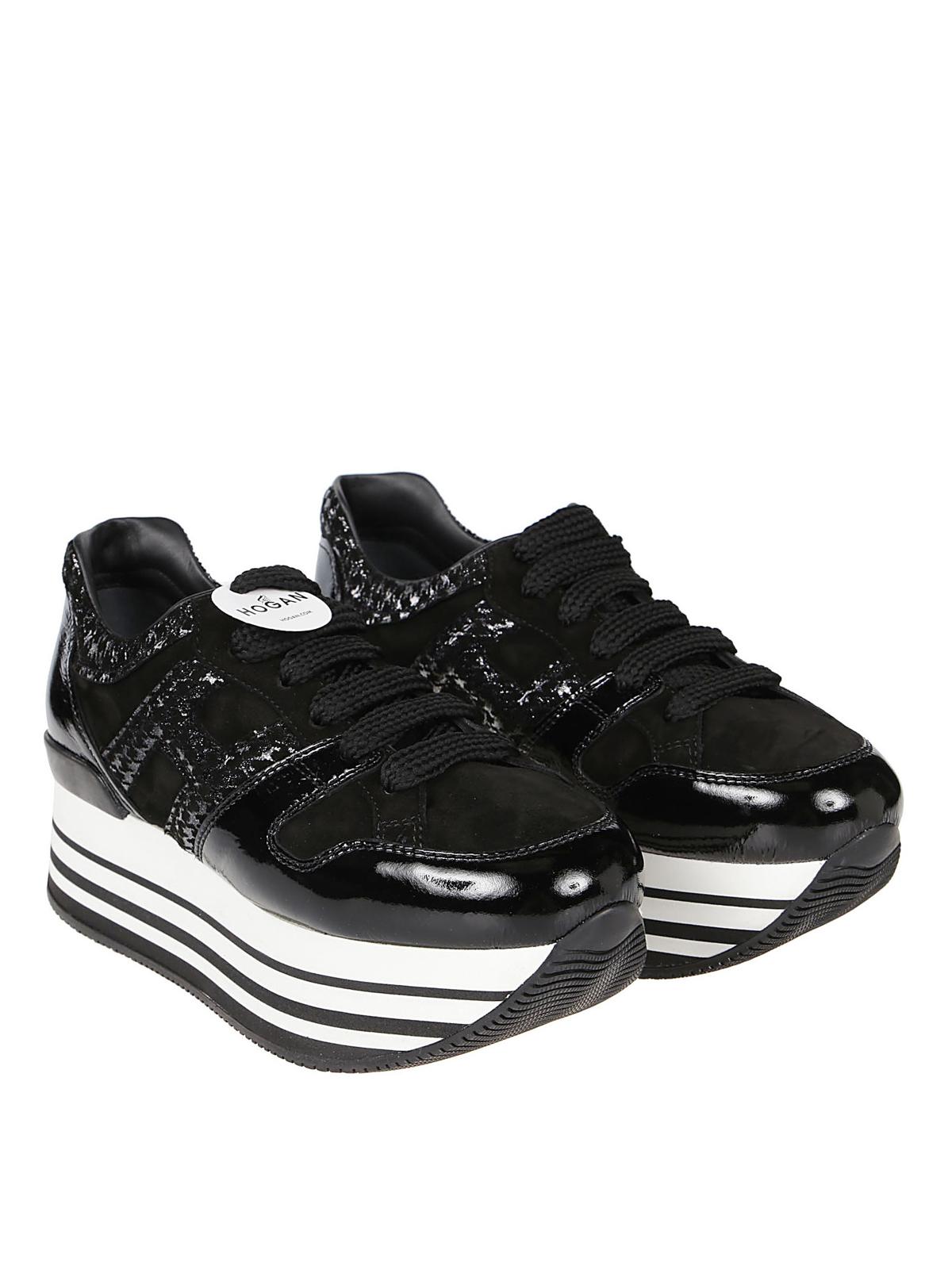 Trainers Hogan - H283 Maxi H222 black sneakers - HXW2830T548LKF0QS5