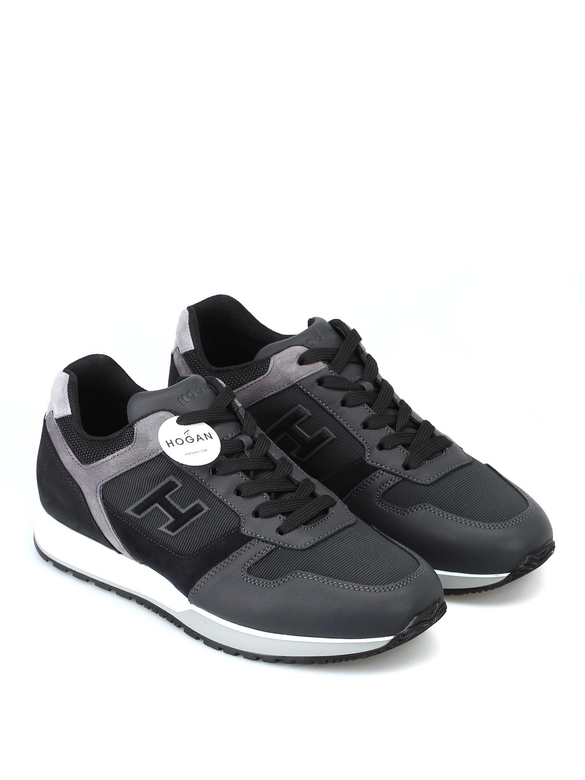 44be3b74799c1 HOGAN  sneakers online - Sneaker nere H321 in pelle e suede