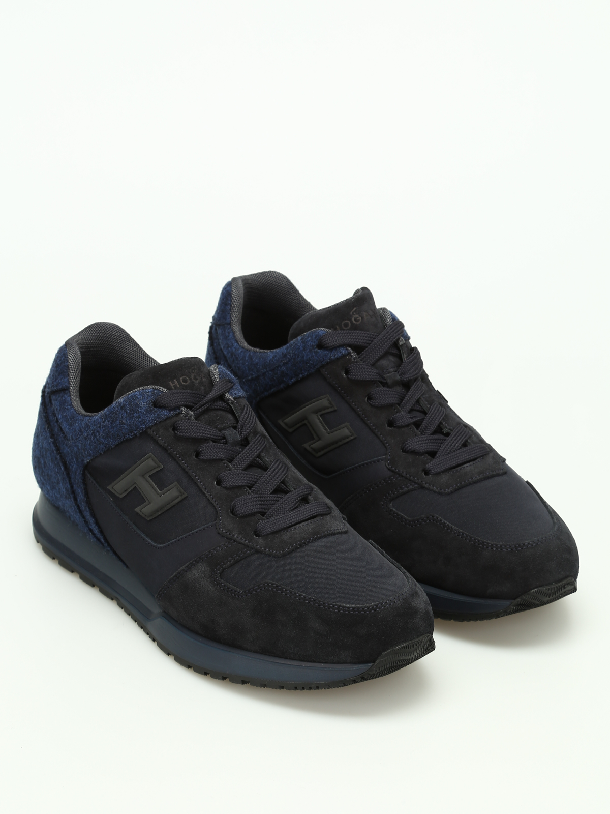 Hogan - H321 felt and suede sneakers